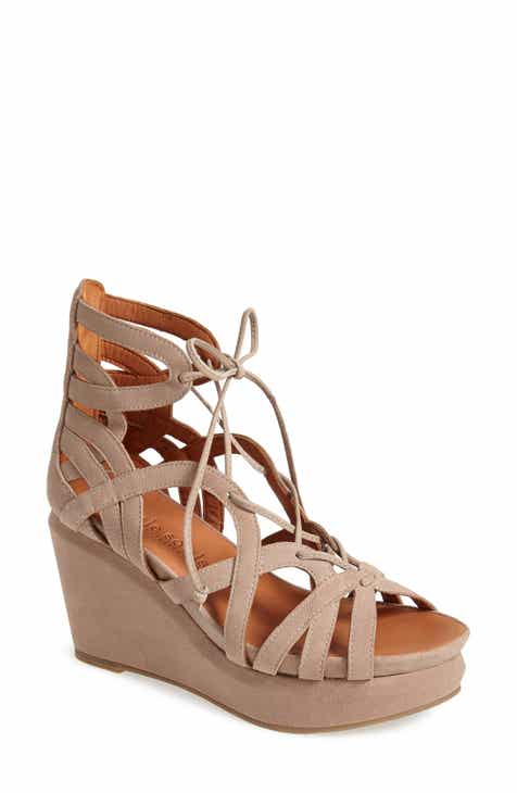 5a2768162f91 Gentle Souls by Kenneth Cole  Joy  Lace Up Nubuck Sandal (Women)
