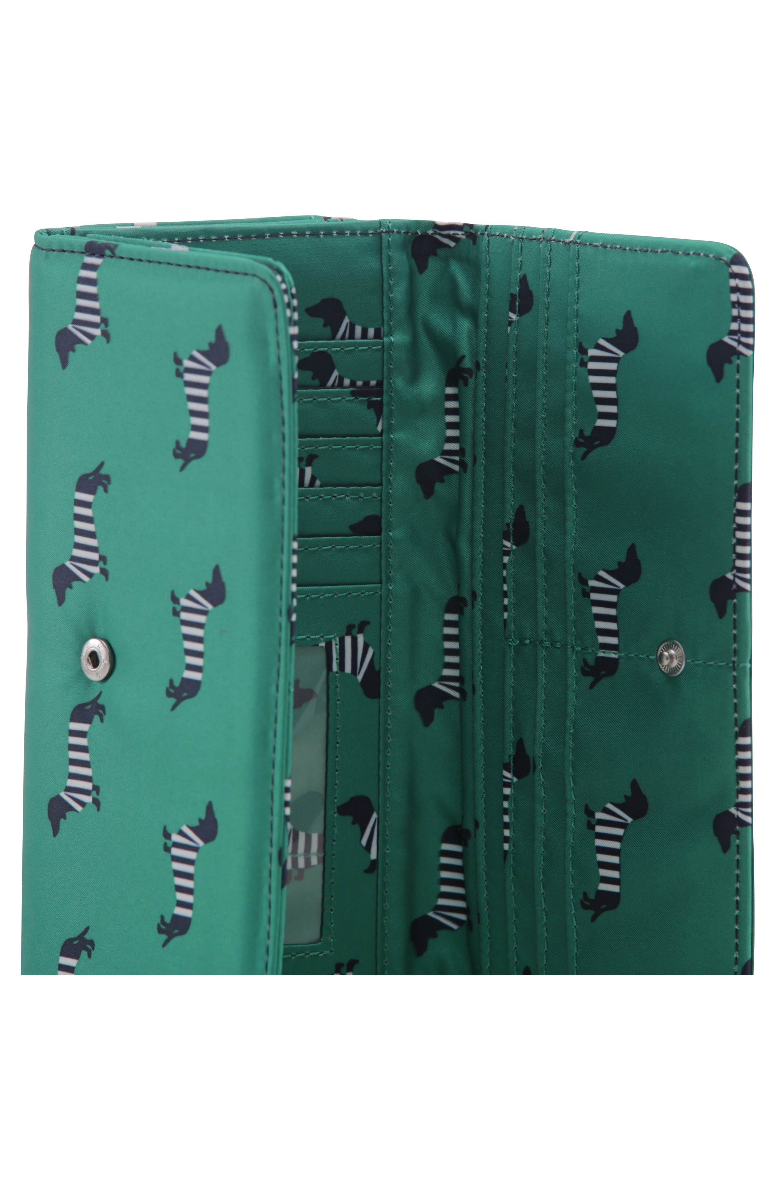 Be Rich - Coastal Collection Trifold Clutch Wallet,                             Alternate thumbnail 6, color,                             Coney Island