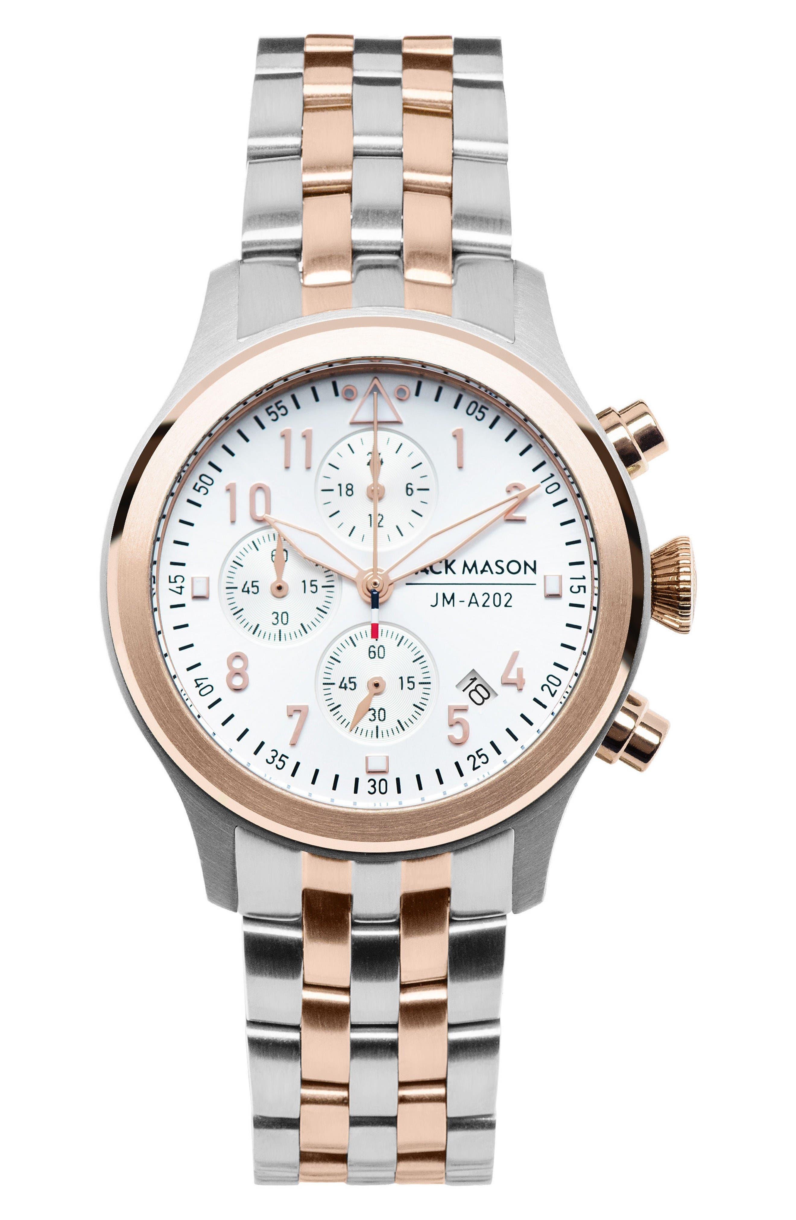 Jack Mason Aviation Chronograph Bracelet Watch, 36mm