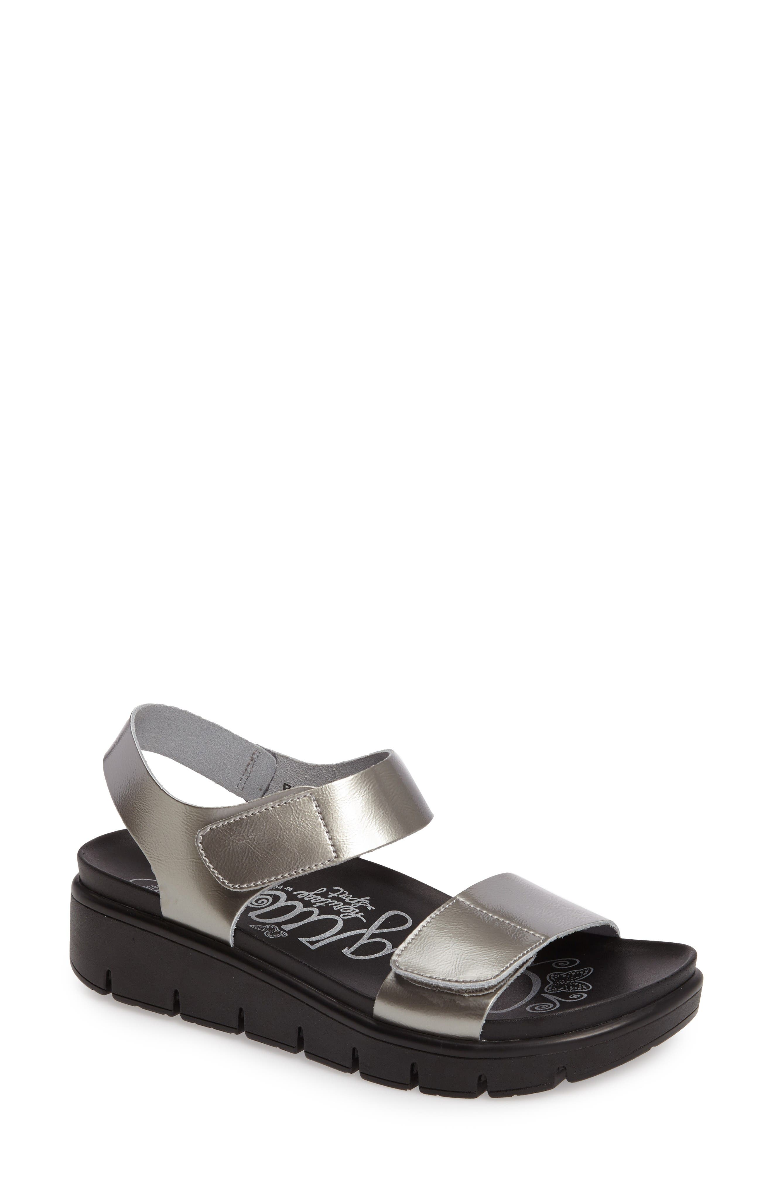 Playa Sandal,                         Main,                         color, Pewter Patent Leather