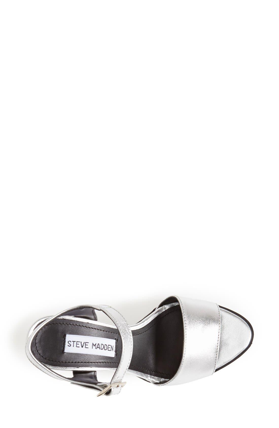'Traviss' Sandal,                             Alternate thumbnail 3, color,                             Silver Leather