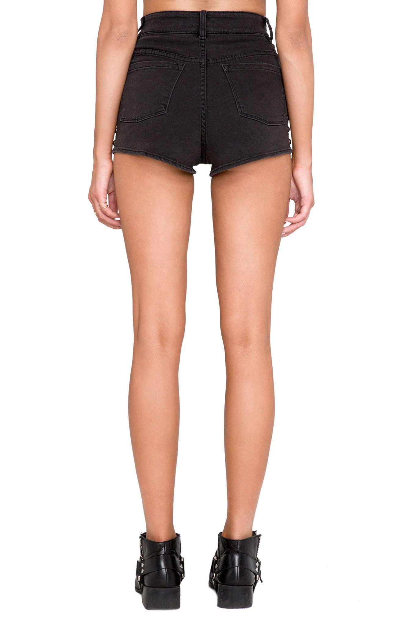 Alternate Image 3  - Amuse Society Rhea Studded High Waist Shorts