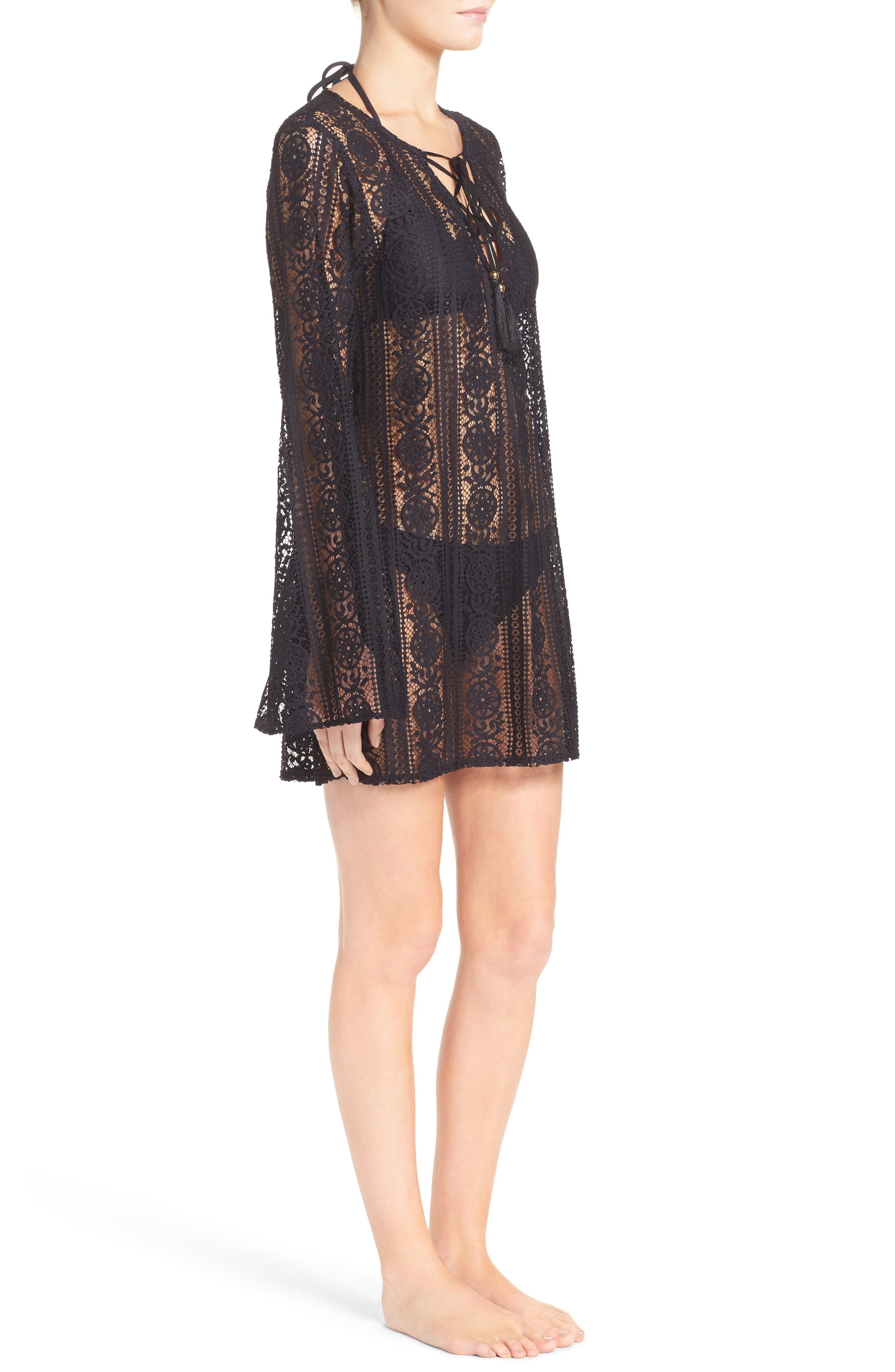 Ariana Cover-Up Tunic,                             Alternate thumbnail 3, color,                             Midnight