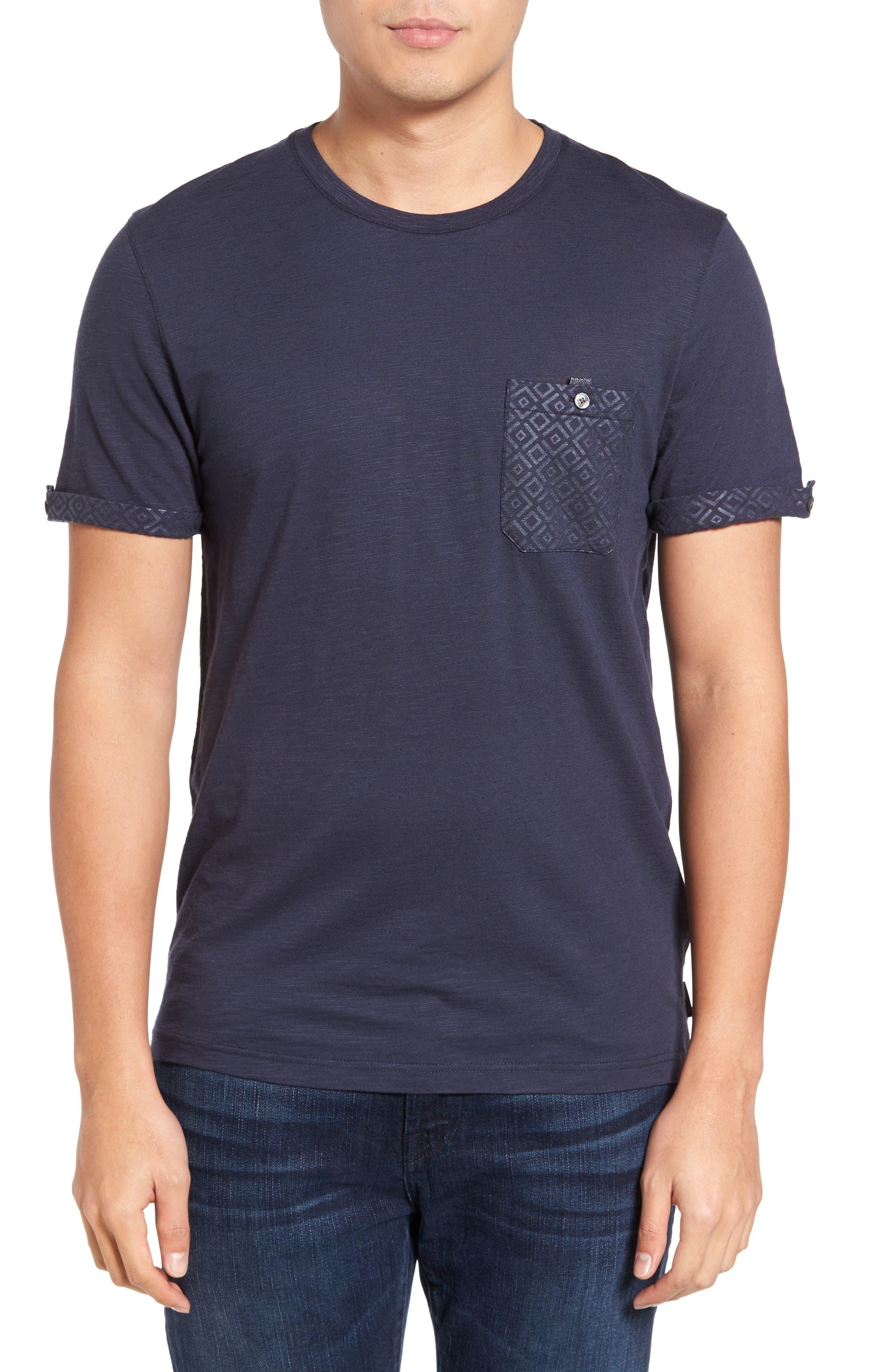 Apel Print Pocket T-Shirt,                         Main,                         color, Navy