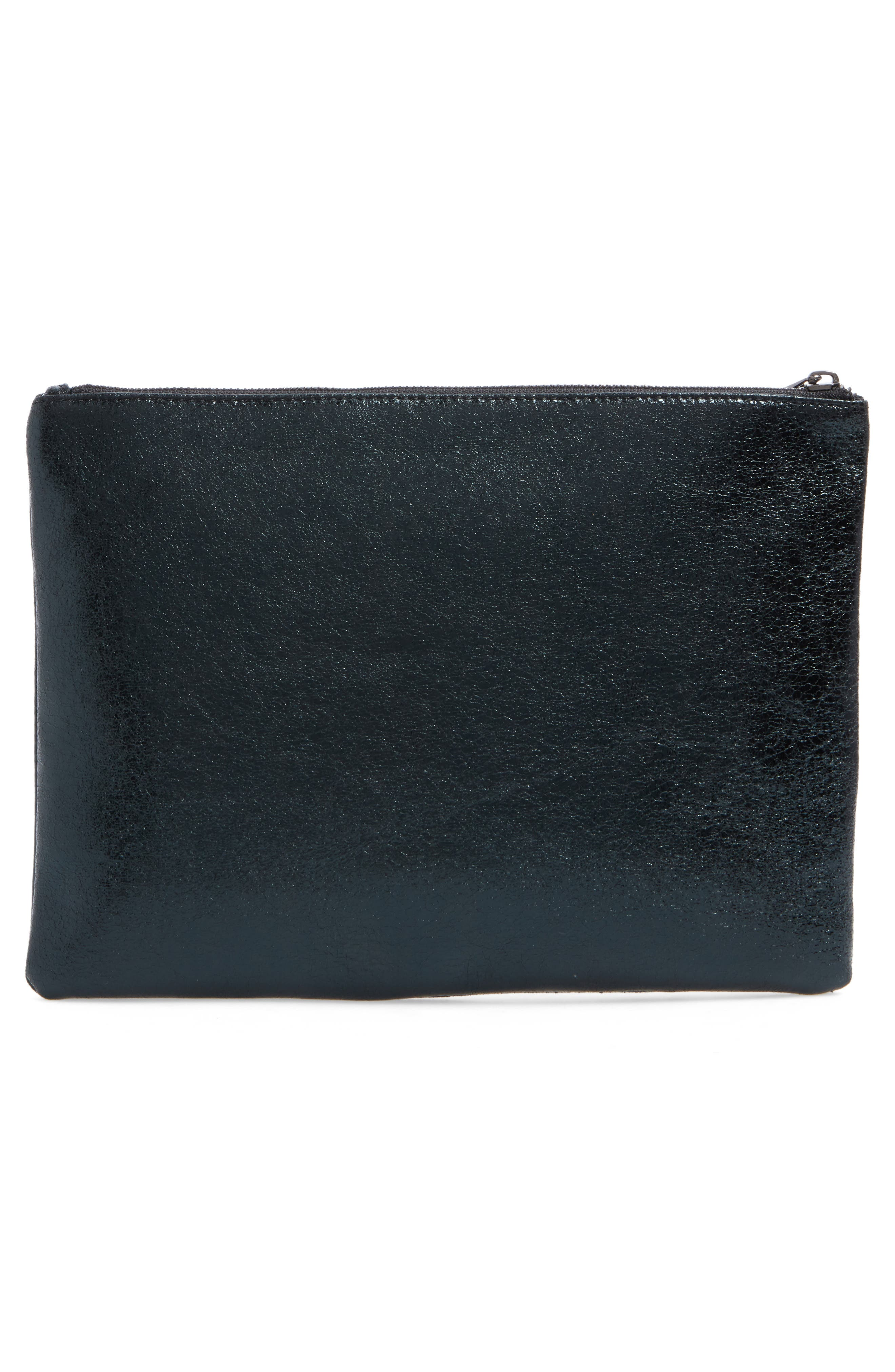 Alternate Image 7  - BP. Faux Leather Large Zip Pouch