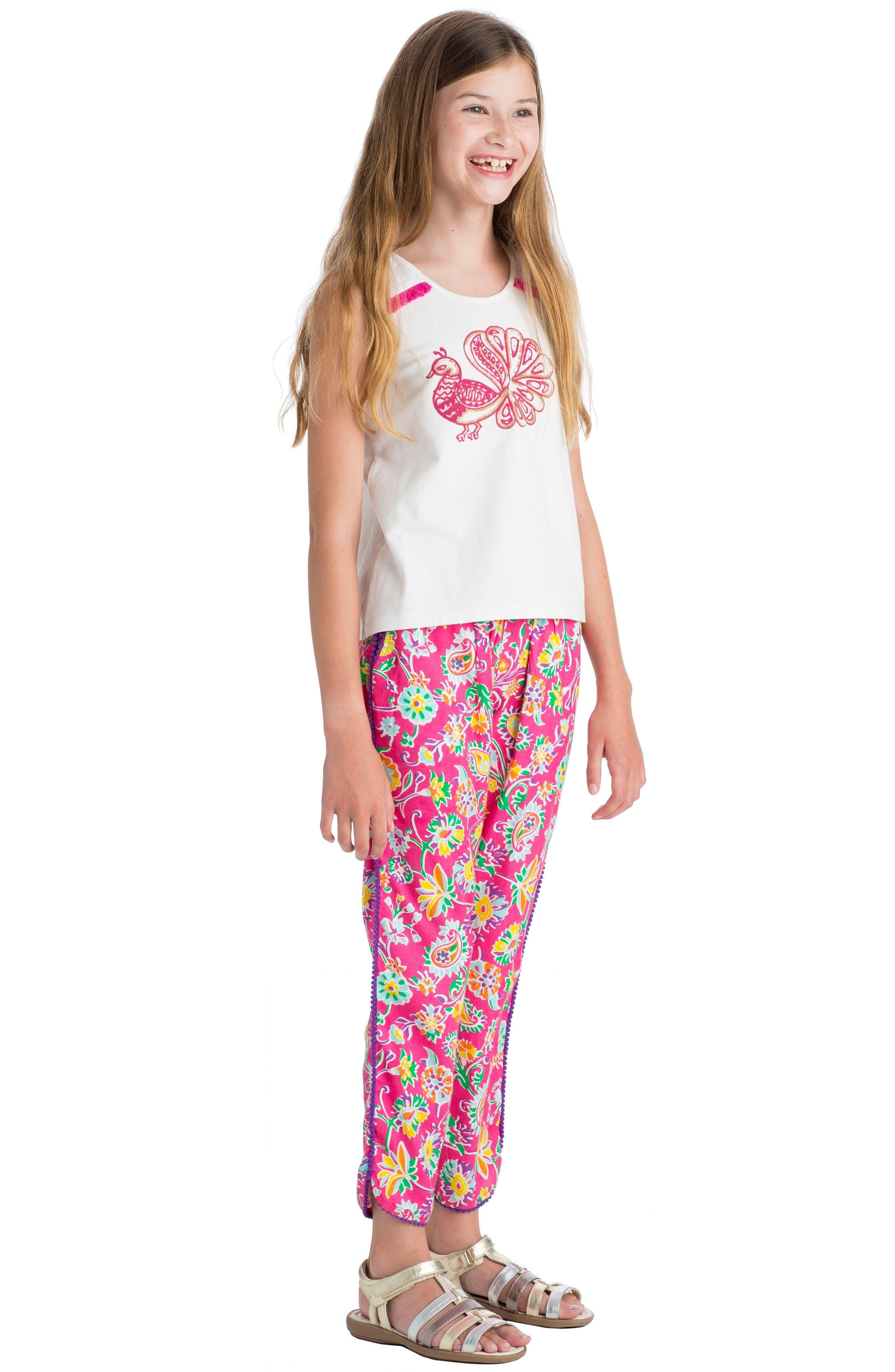Alternate Image 2  - Masalababy Boondi Floral Print Pants (Toddler Girls, Little Girls & Big Girls)