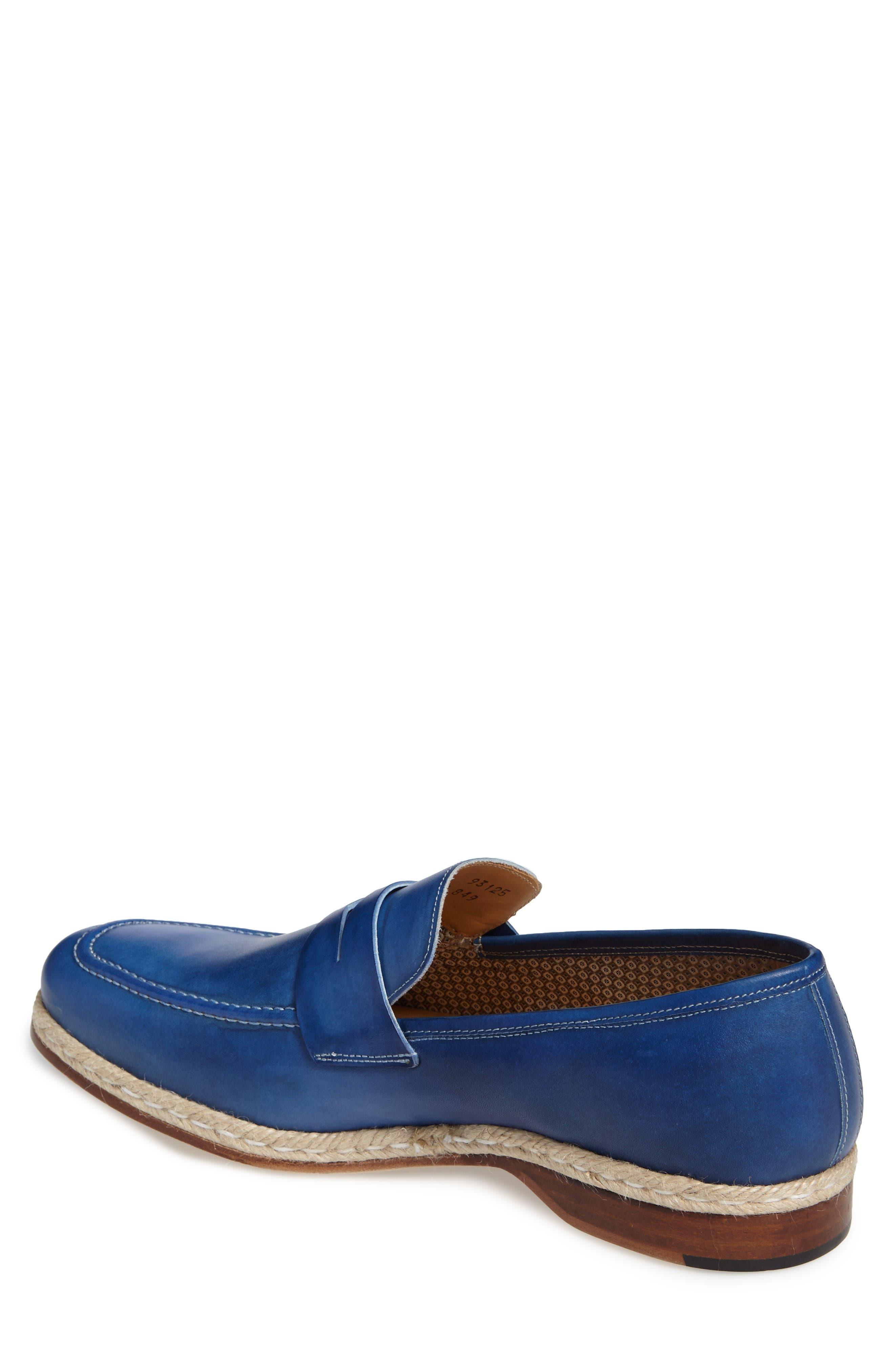Battani Penny Loafer,                             Alternate thumbnail 2, color,                             Blue Leather