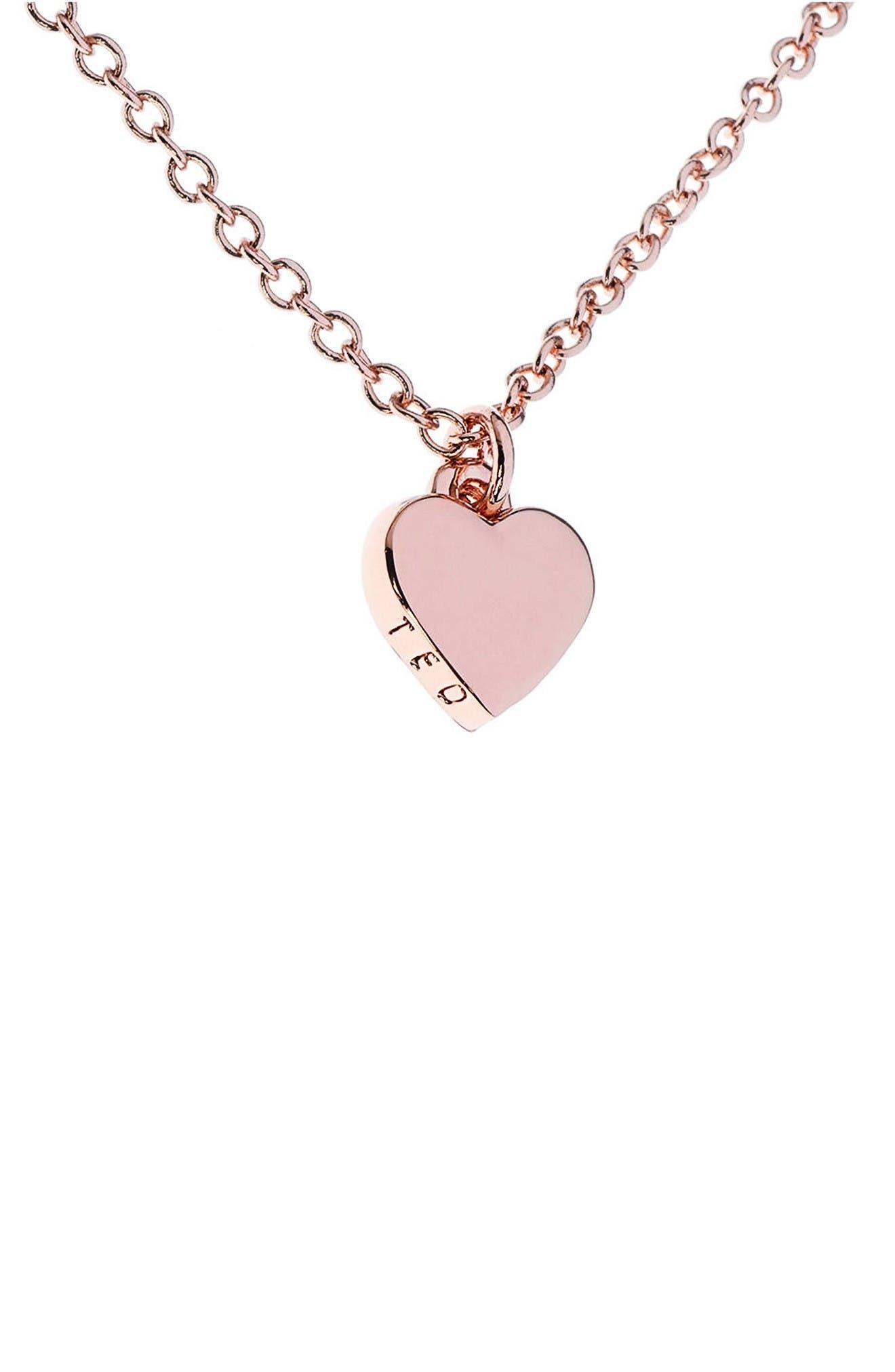 Alternate Image 1 Selected - Ted Baker London Mini Heart Pendant Necklace