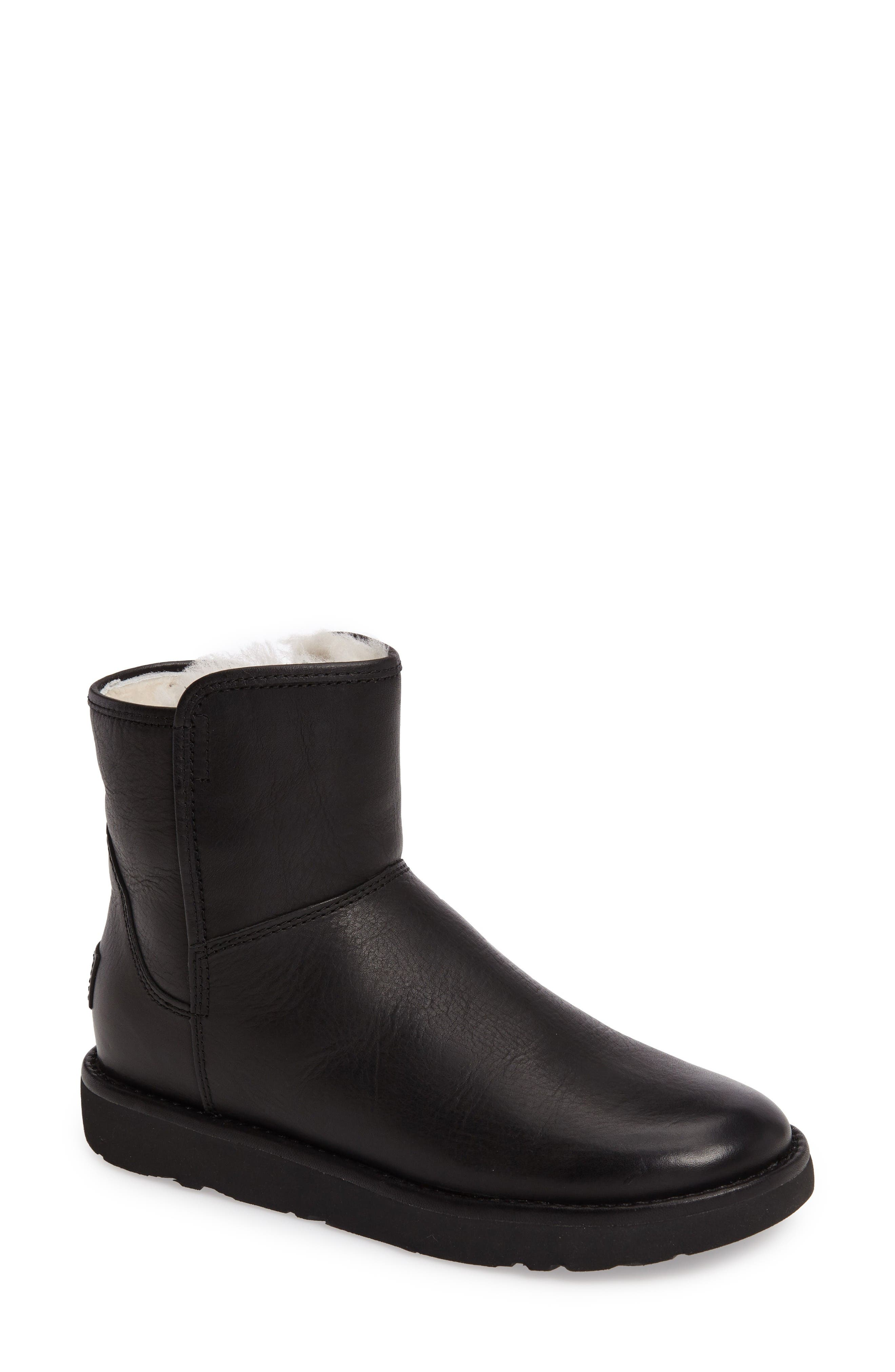 Newest UGG Australia Bonham Black Womens Ankle Boots Outlet UK1592