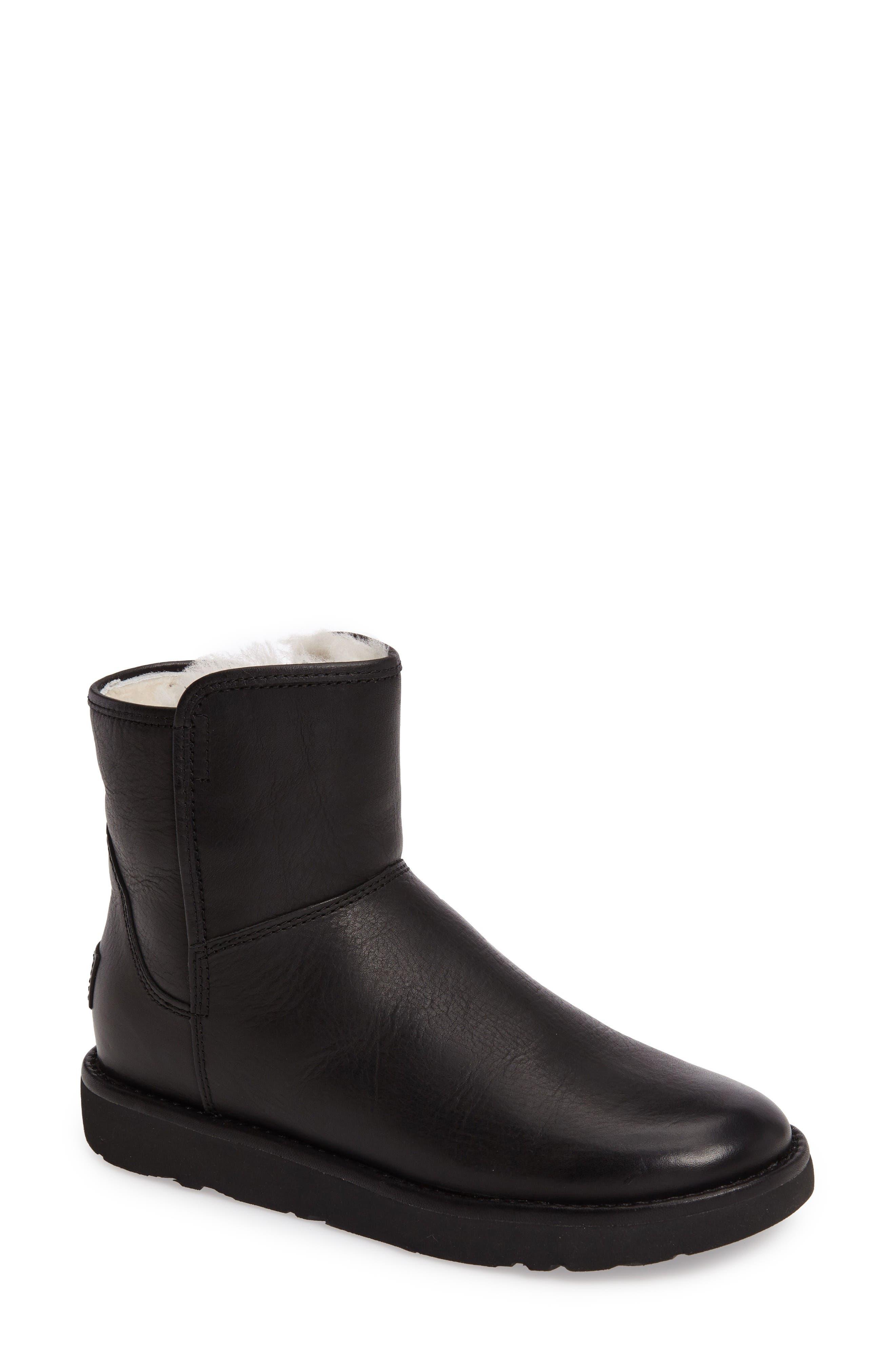 Abree Mini Boot,                             Main thumbnail 1, color,                             Black Leather