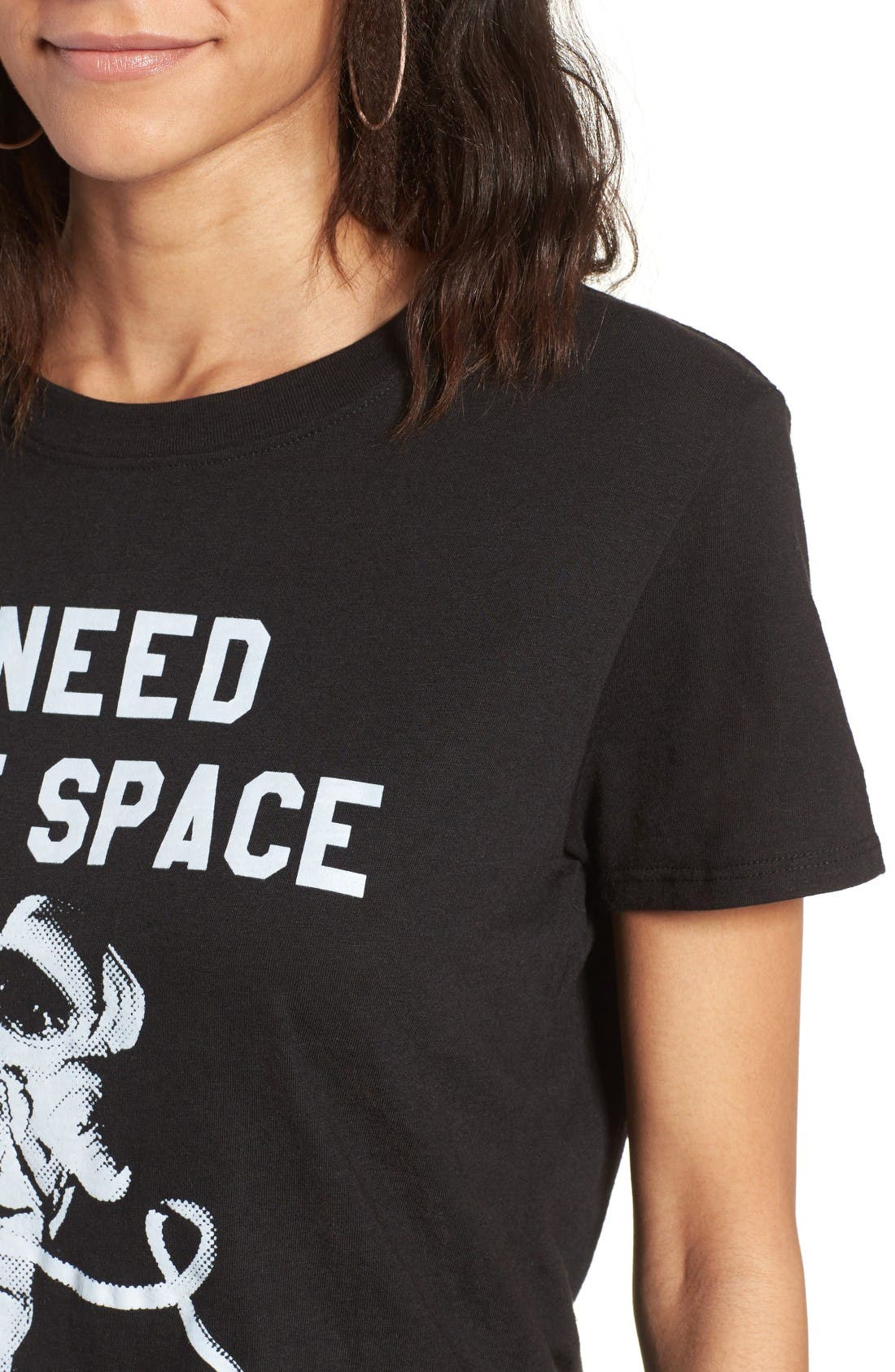 I Need More Space Graphic Tee,                             Alternate thumbnail 4, color,                             Black