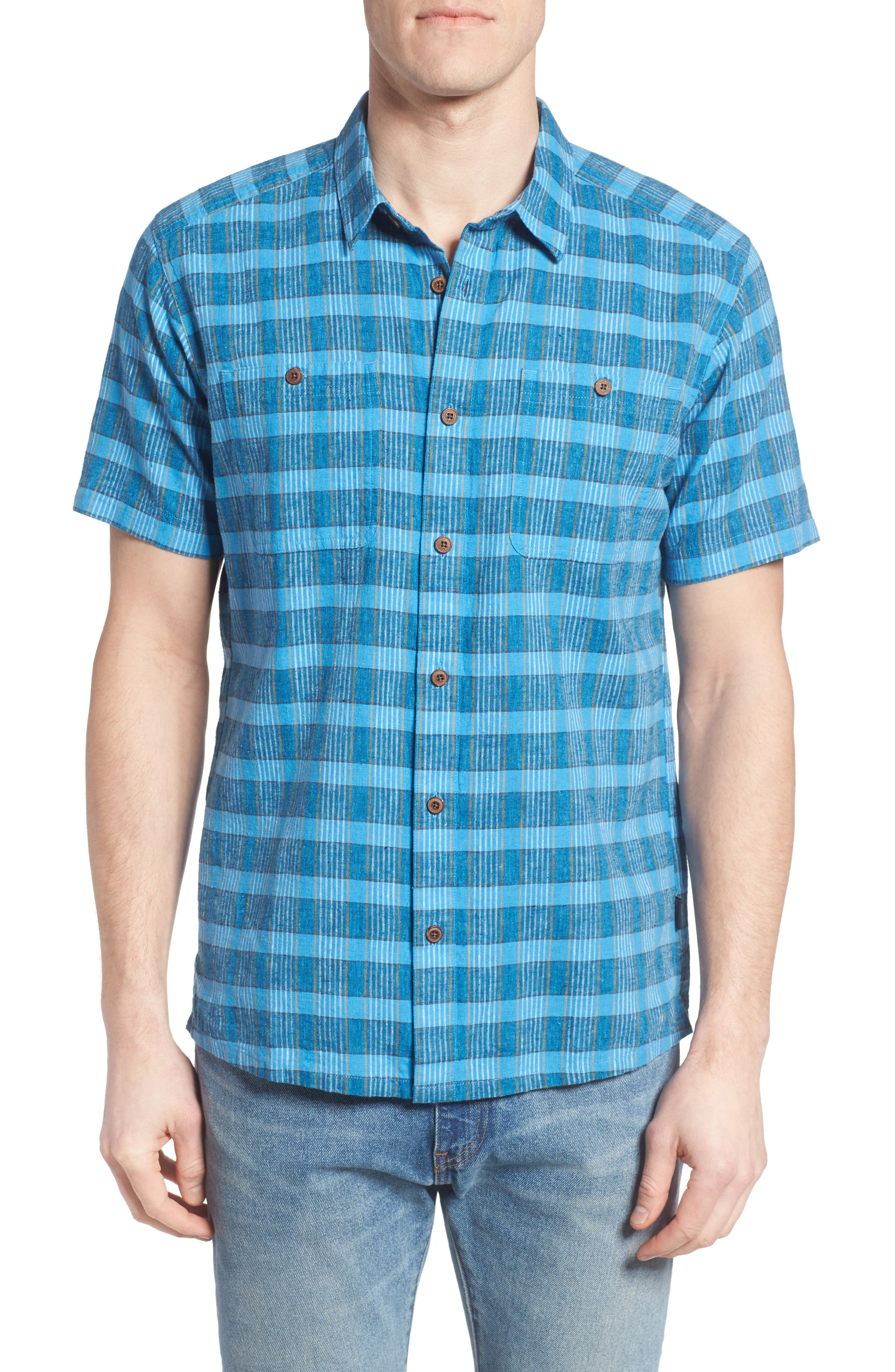 Alternate Image 1 Selected - Patagonia 'Back Step' Regular Fit Check Short Sleeve Sport Shirt