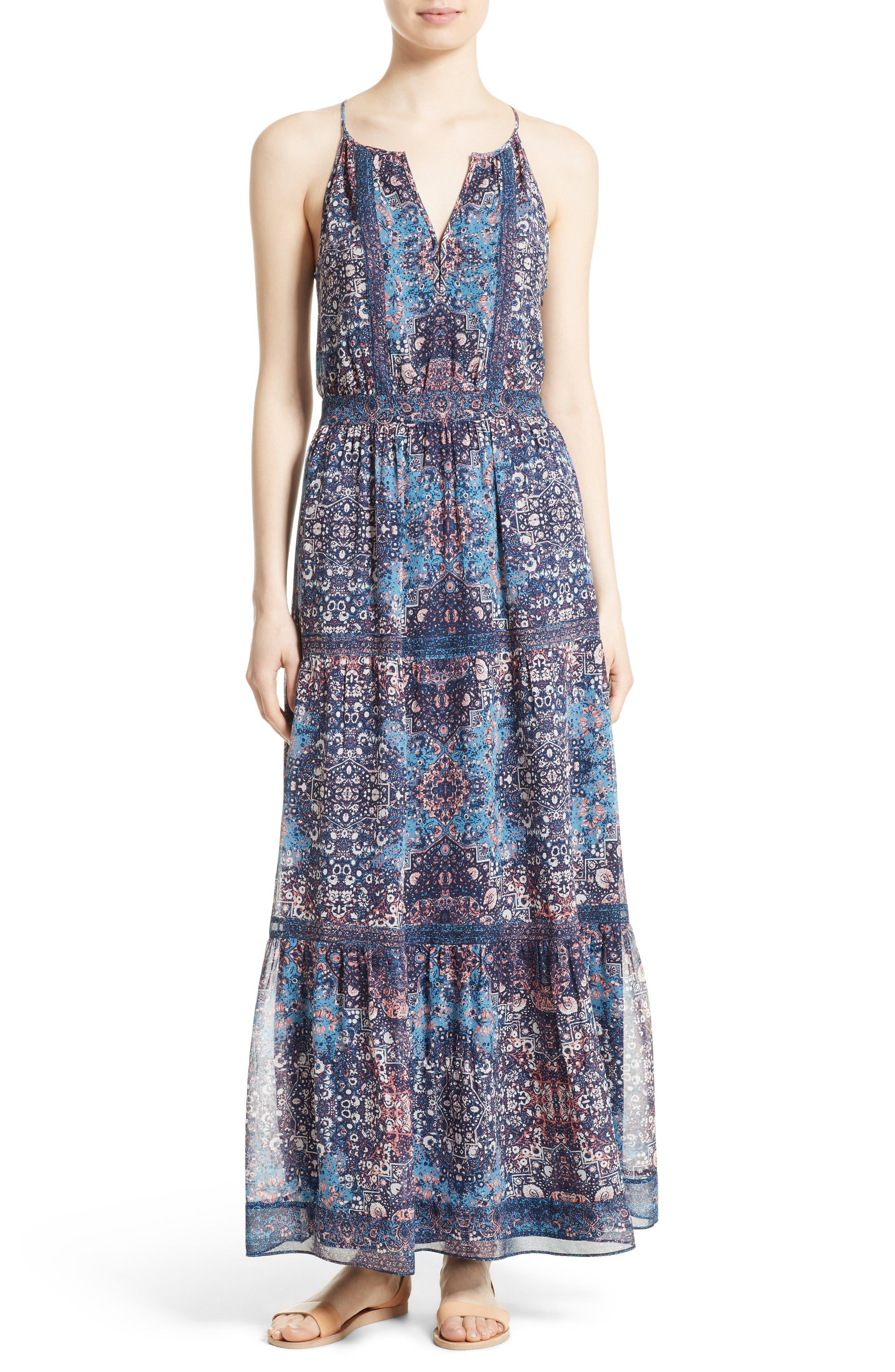 Joie Agnece Silk Maxi Dress
