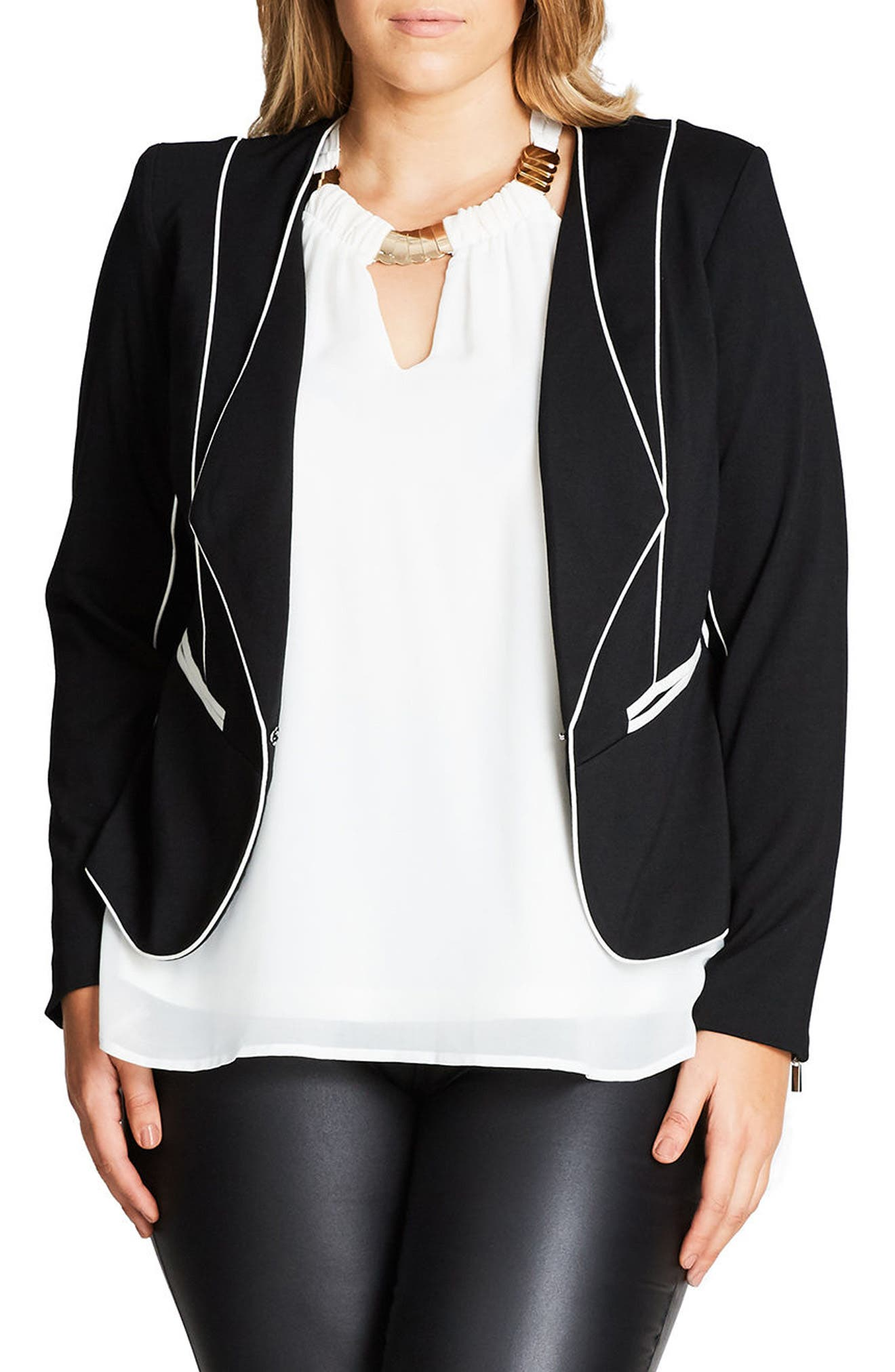 City Chic Pipe Dream Jacket (Plus Size)