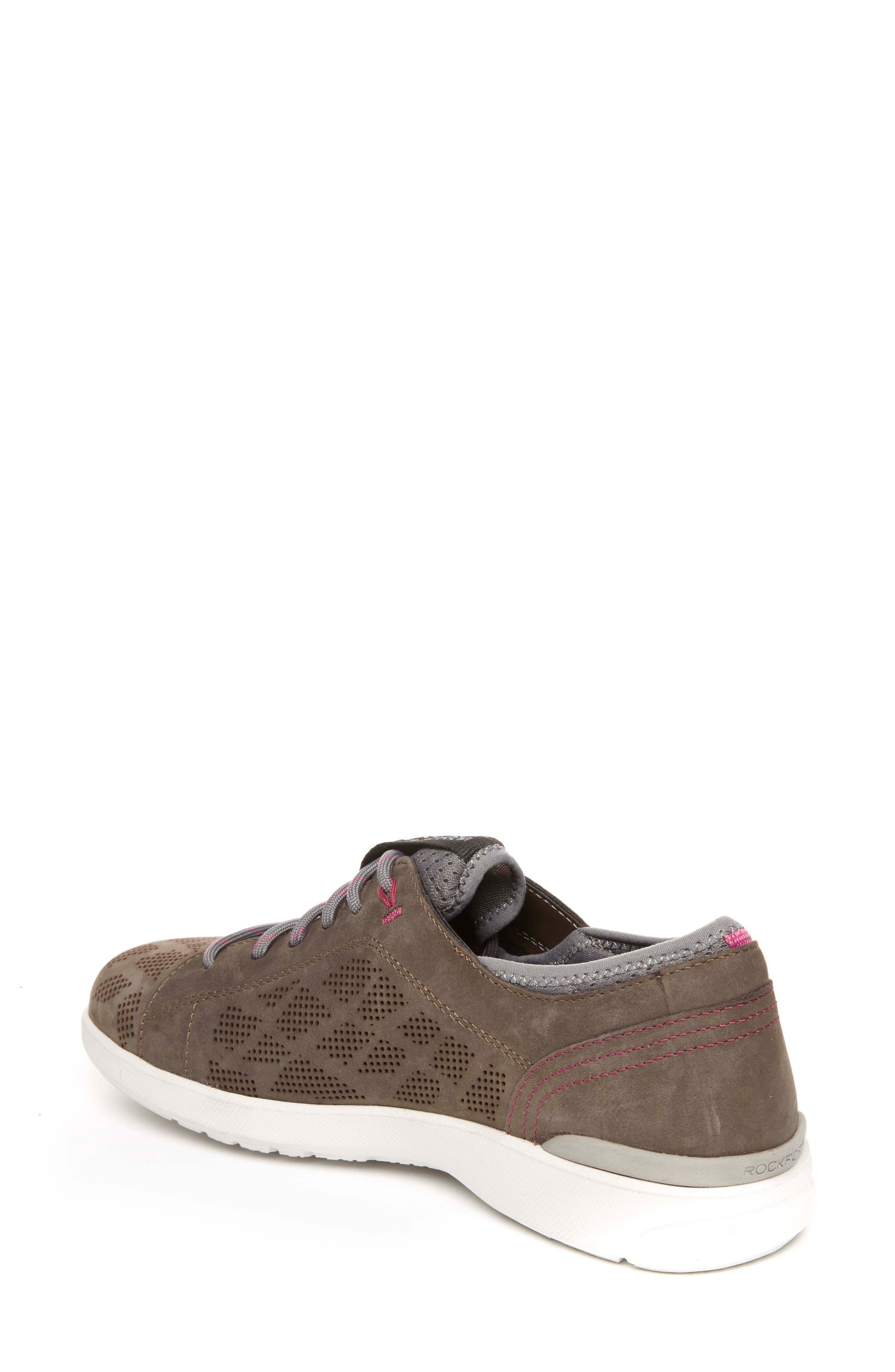 truFLEX Perforated Sneaker,                             Alternate thumbnail 2, color,                             Stone Leather