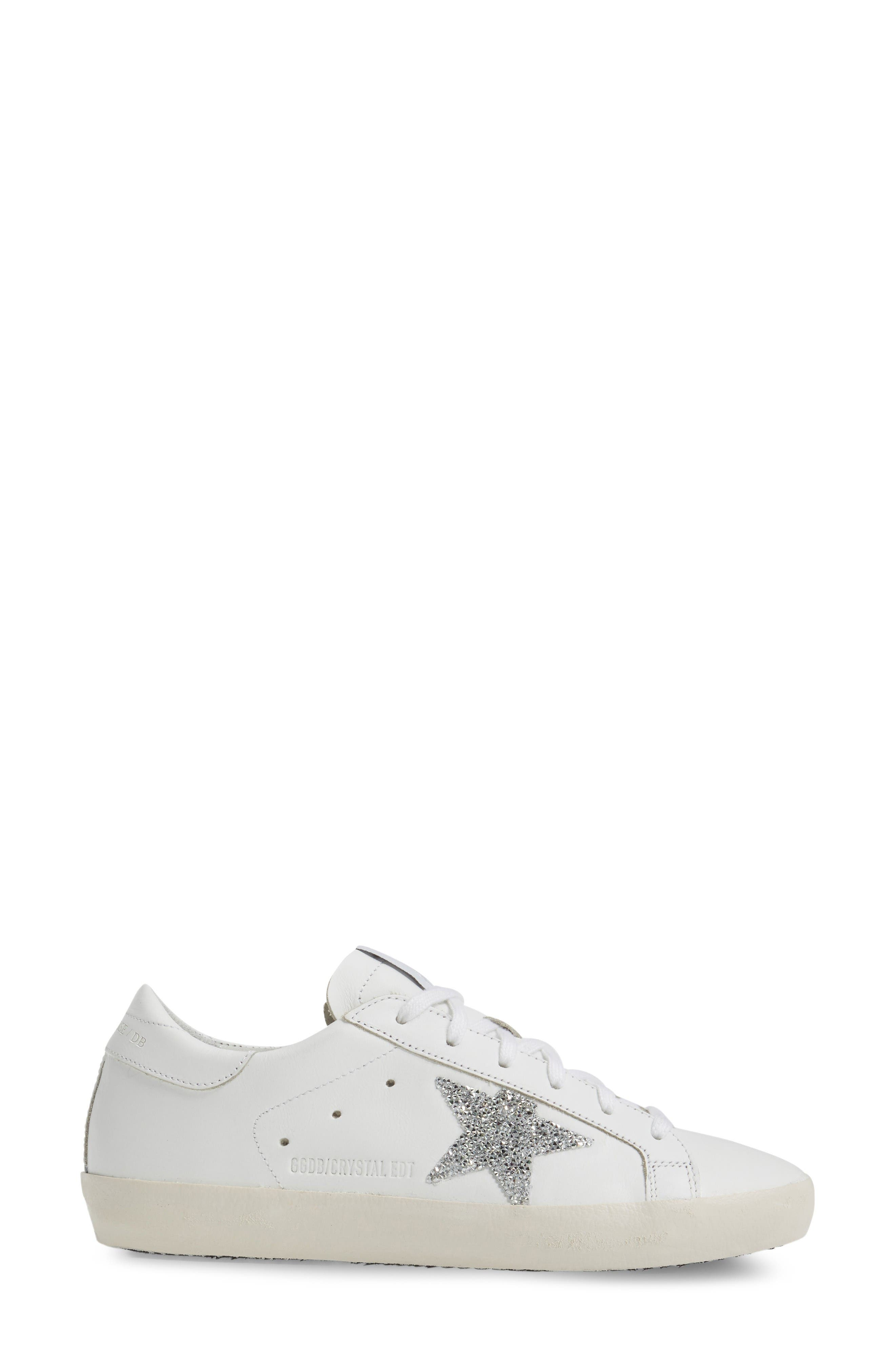 Alternate Image 5  - Golden Goose Superstar High Top Swarovski Crystal Sneaker (Women)