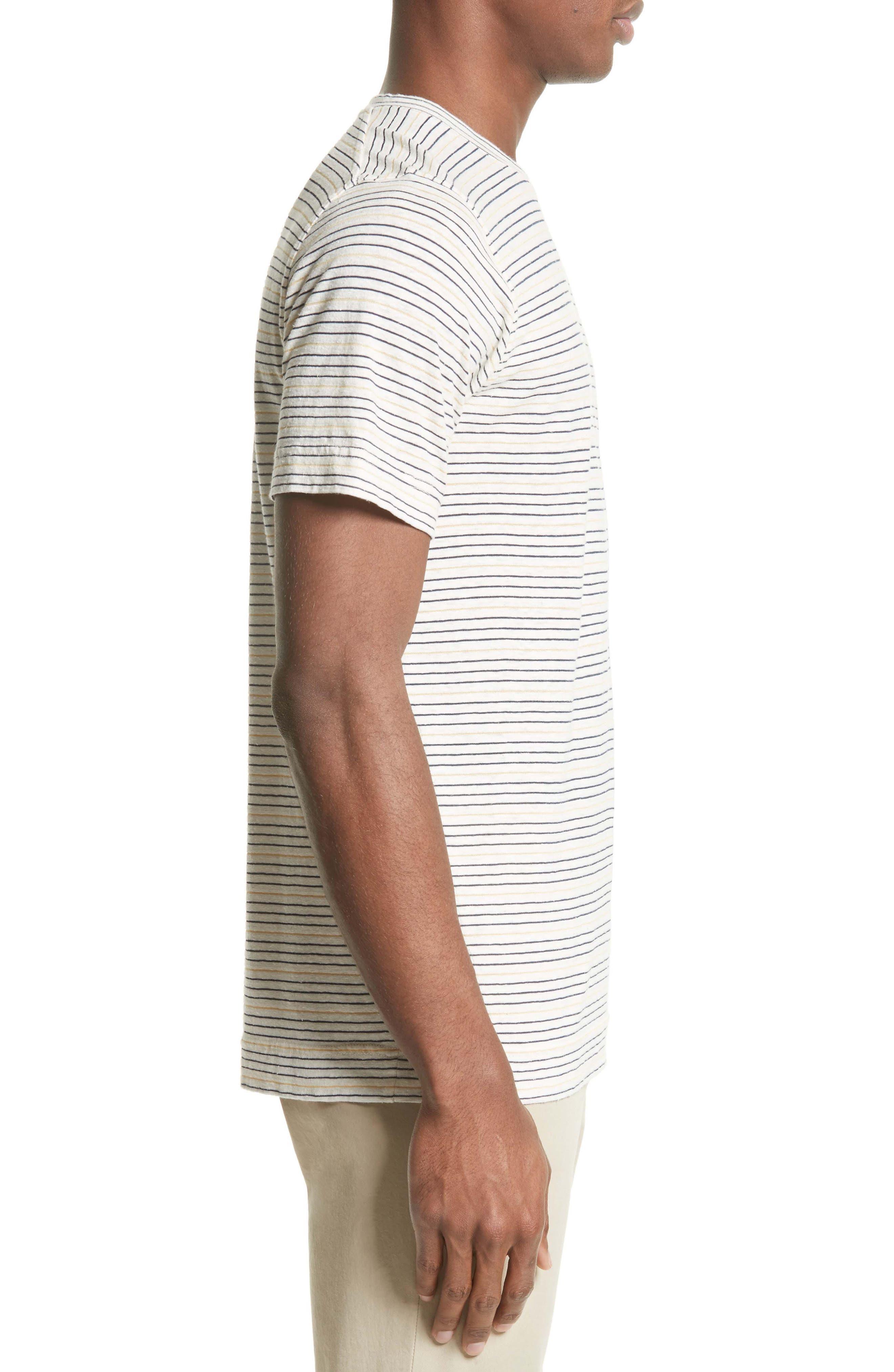 Stripe T-Shirt,                             Alternate thumbnail 3, color,                             Dried Olive/ Ecru