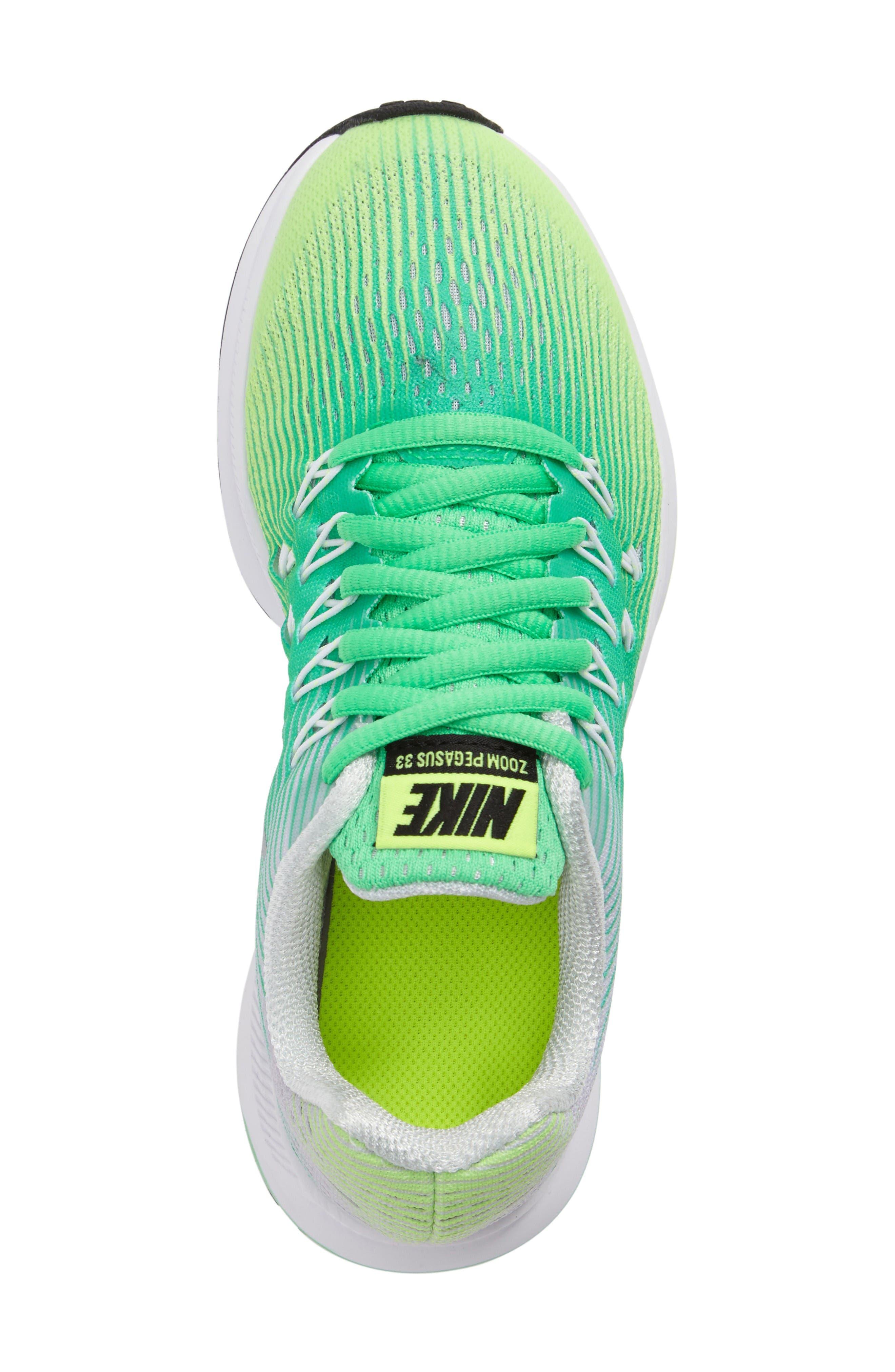 Alternate Image 5  - Nike 'Zoom Pegasus 33' Sneaker (Little Kid & Big Kid)