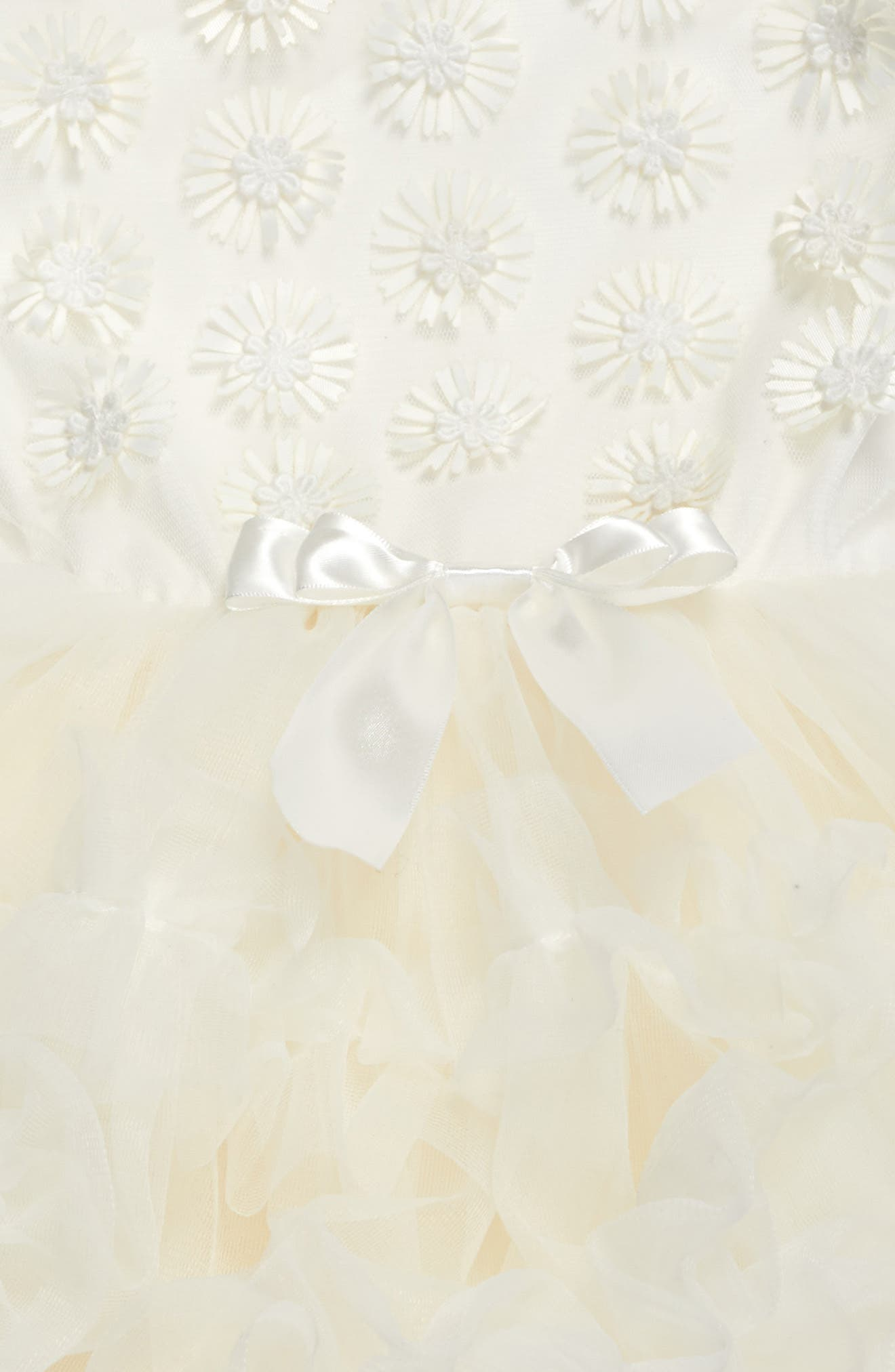 White Daisy Tutu Dress,                             Alternate thumbnail 2, color,                             White