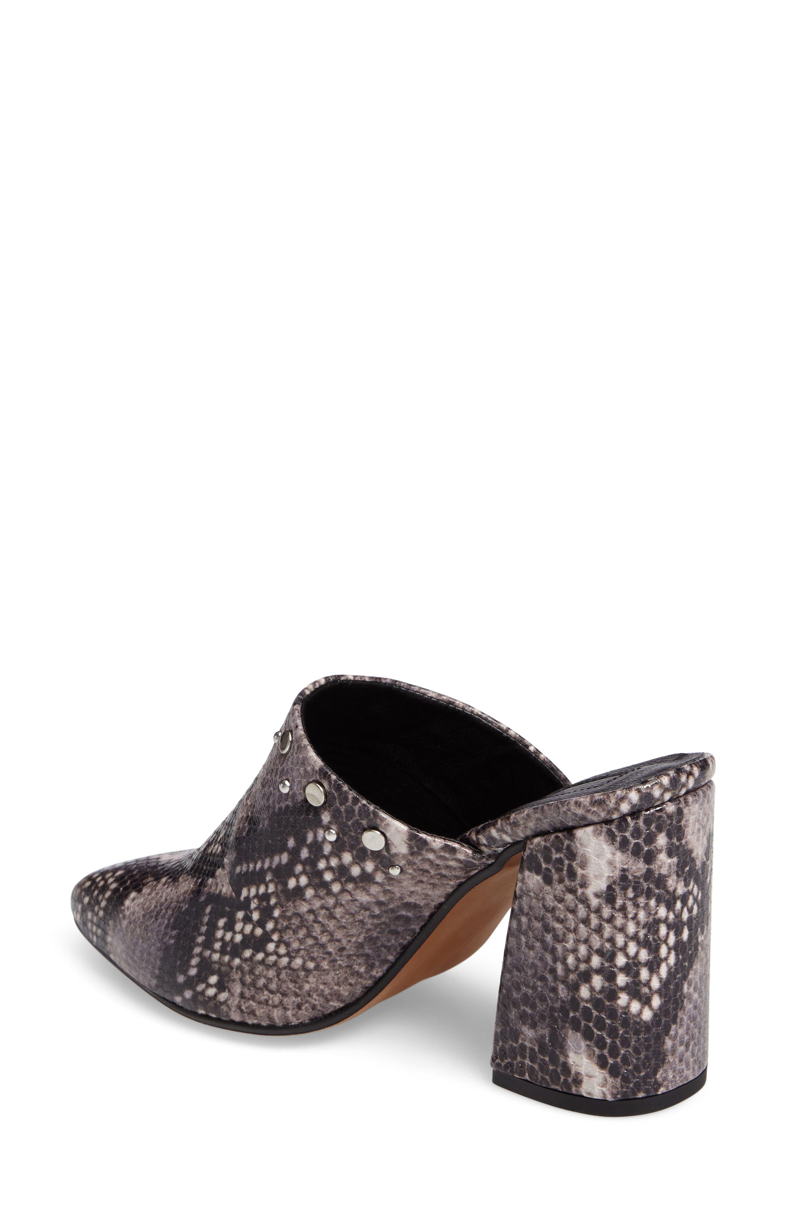 Alternate Image 3  - Topshop Studded Flared Heel Mule (Women)
