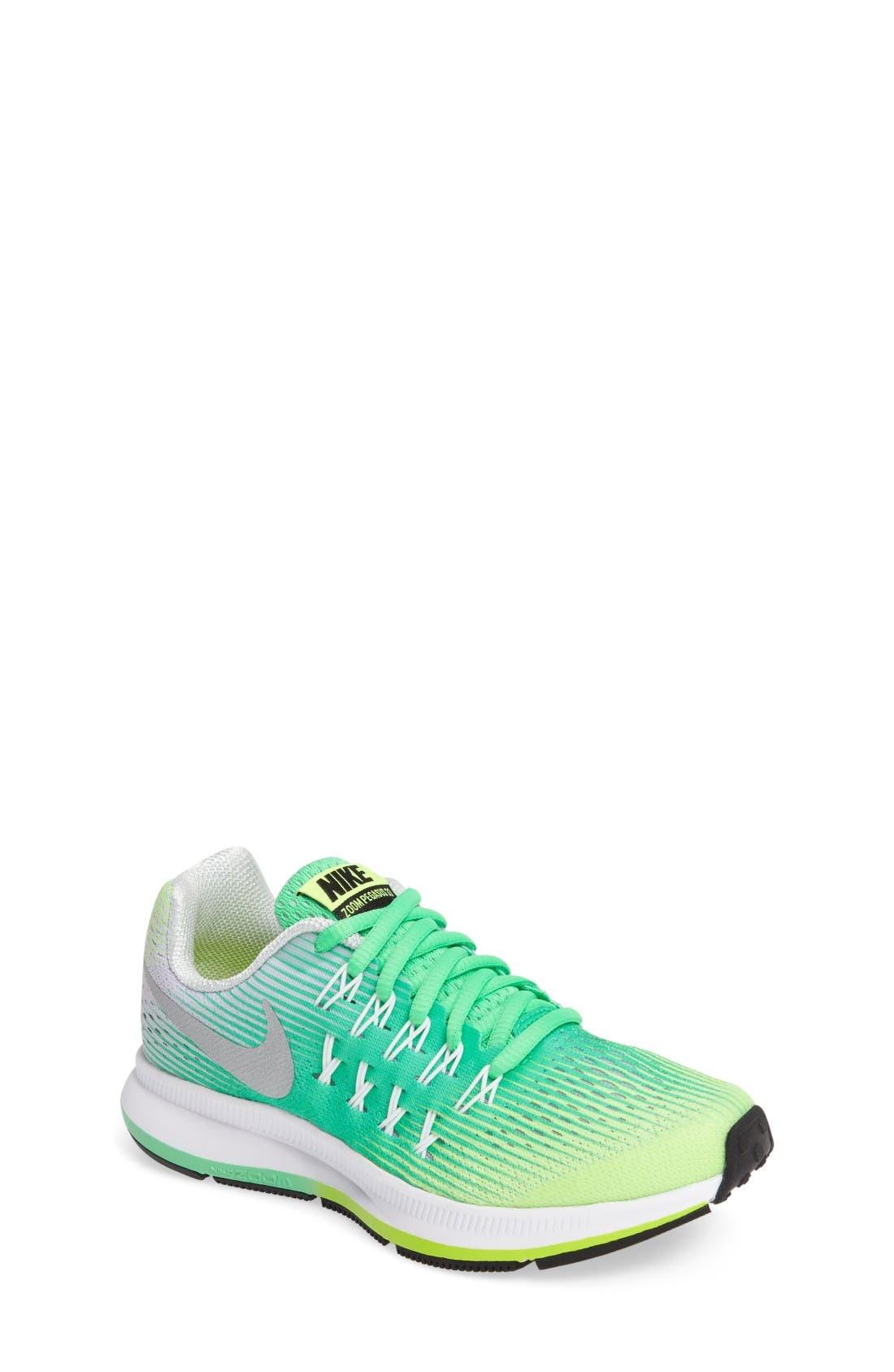 Alternate Image 1 Selected - Nike 'Zoom Pegasus 33' Sneaker (Little Kid & Big Kid)