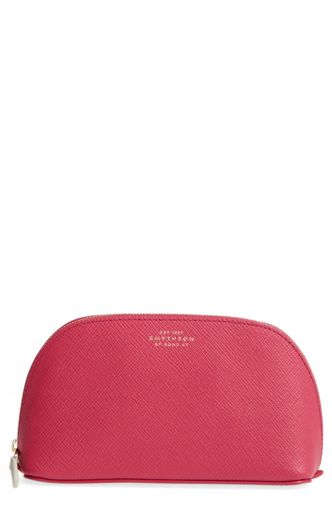 Smythson Small Calfskin Leather Cosmetics Case