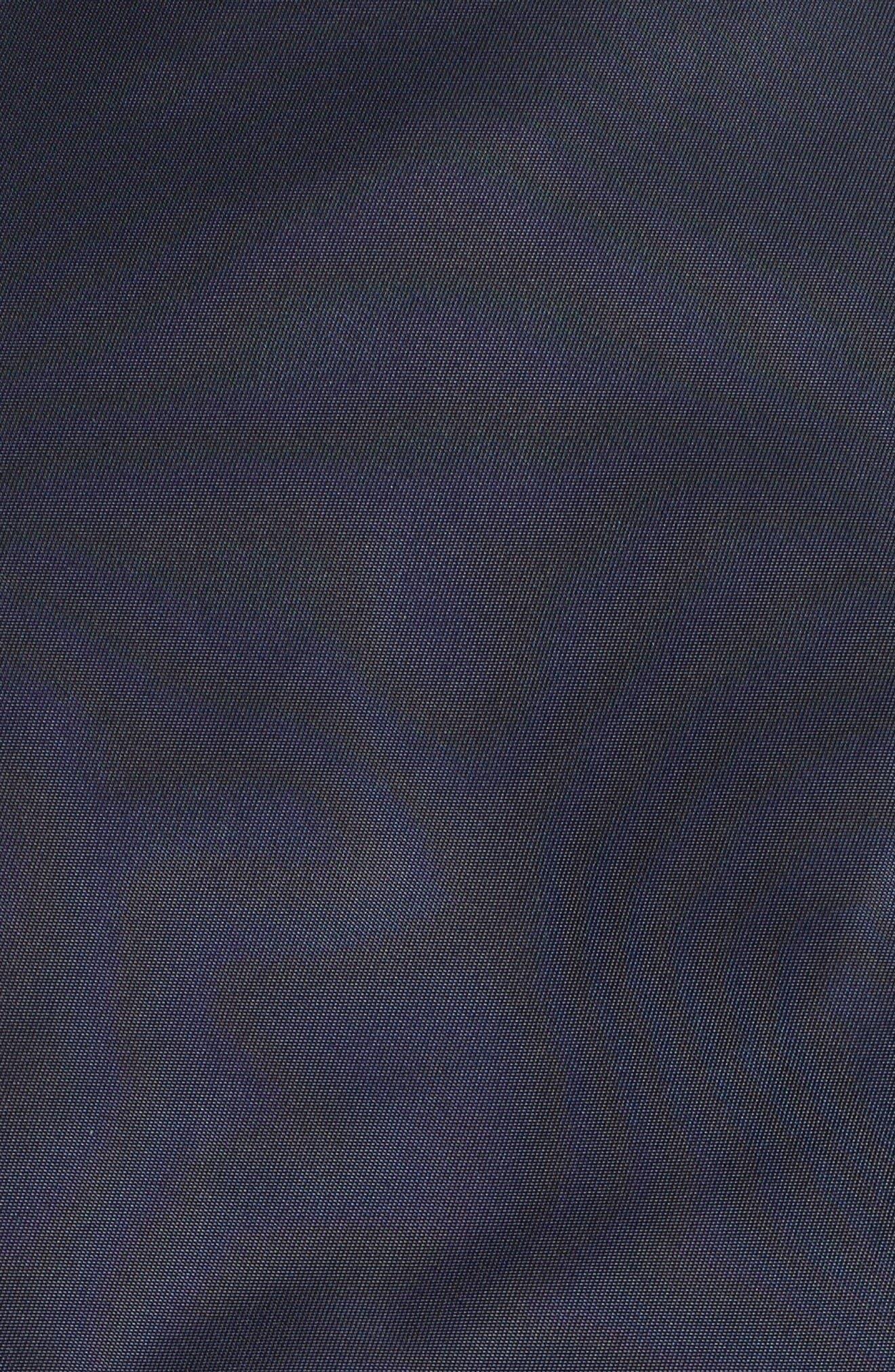 Ruffle Bomber Jacket,                             Alternate thumbnail 6, color,                             Navy