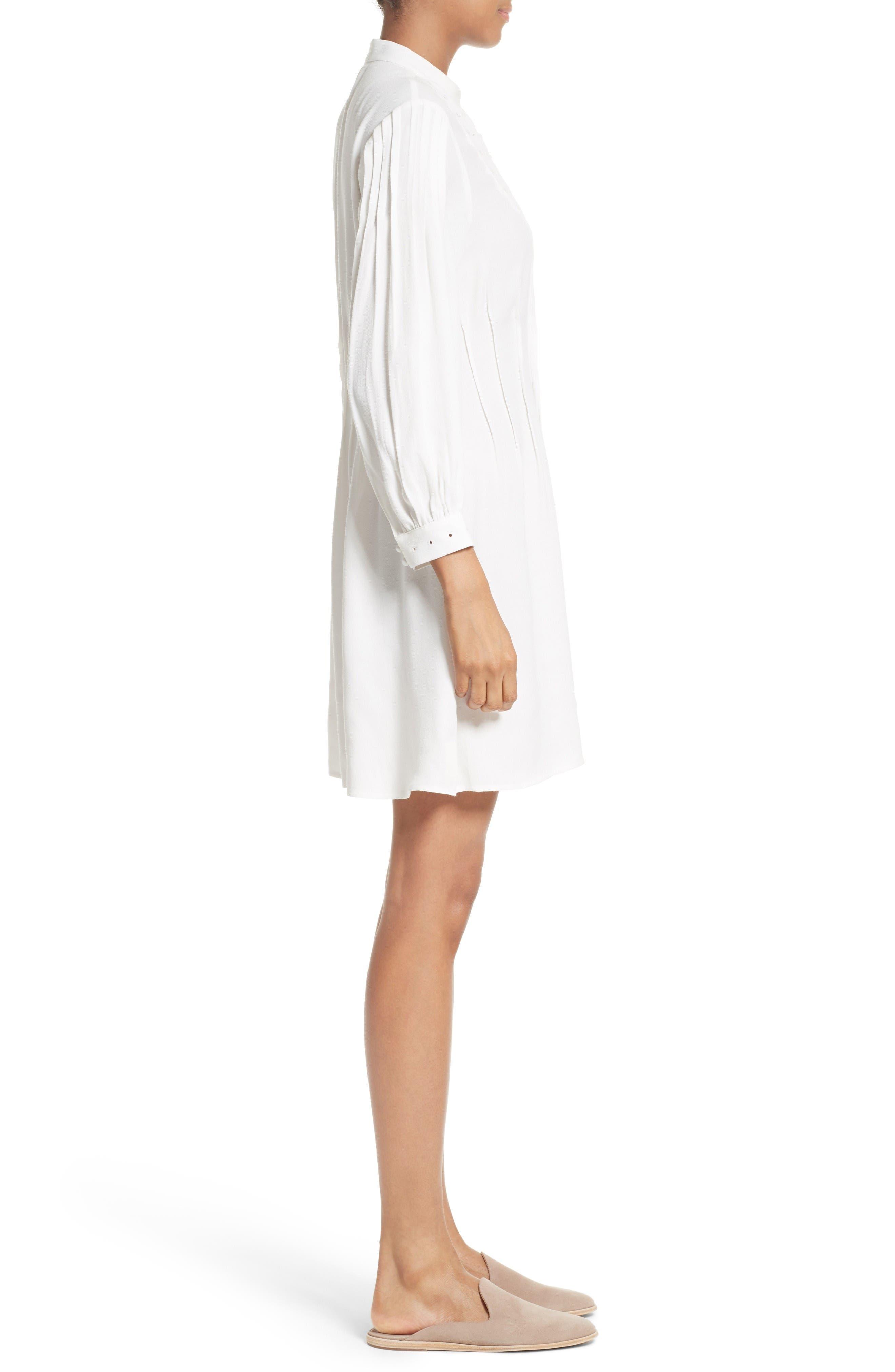 Alternate Image 3  - FRAME Pleated Eyelet Dress