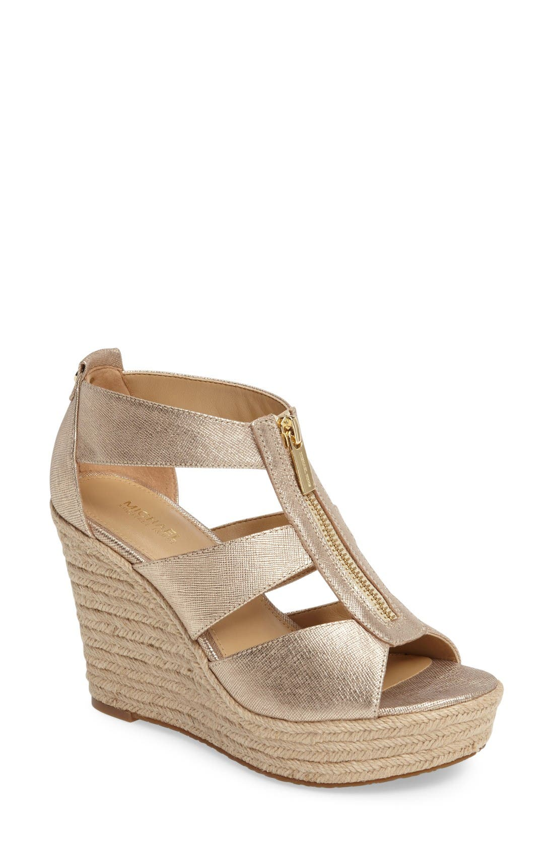Alternate Image 1 Selected - MICHAEL Michael Kors 'Damita' Wedge Sandal (Women)