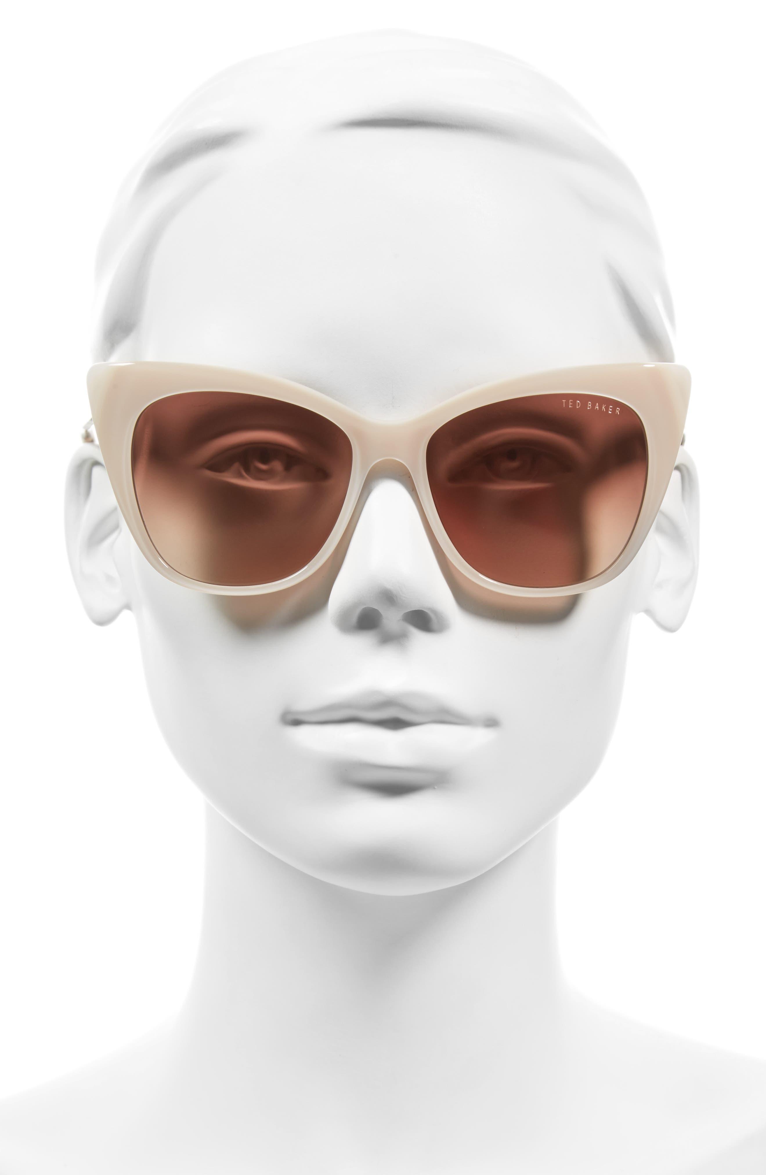 Alternate Image 2  - Ted Baker London 54mm Cat Eye Sunglasses