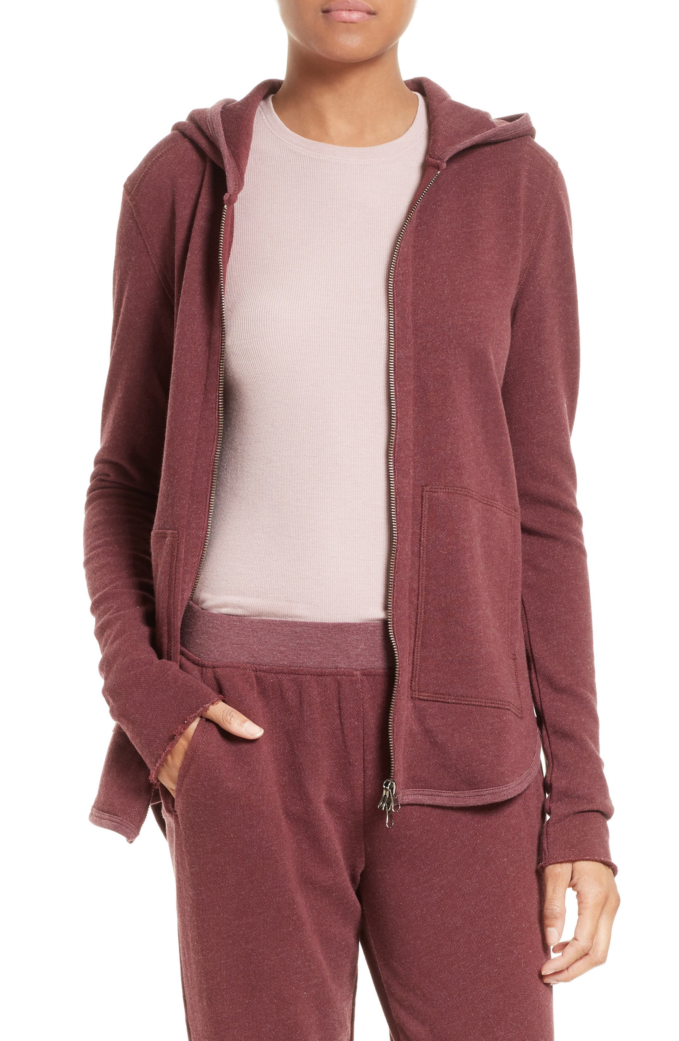 ATM Anthony Thomas Melillo Front Zip Hoodie (Nordstrom Exclusive)