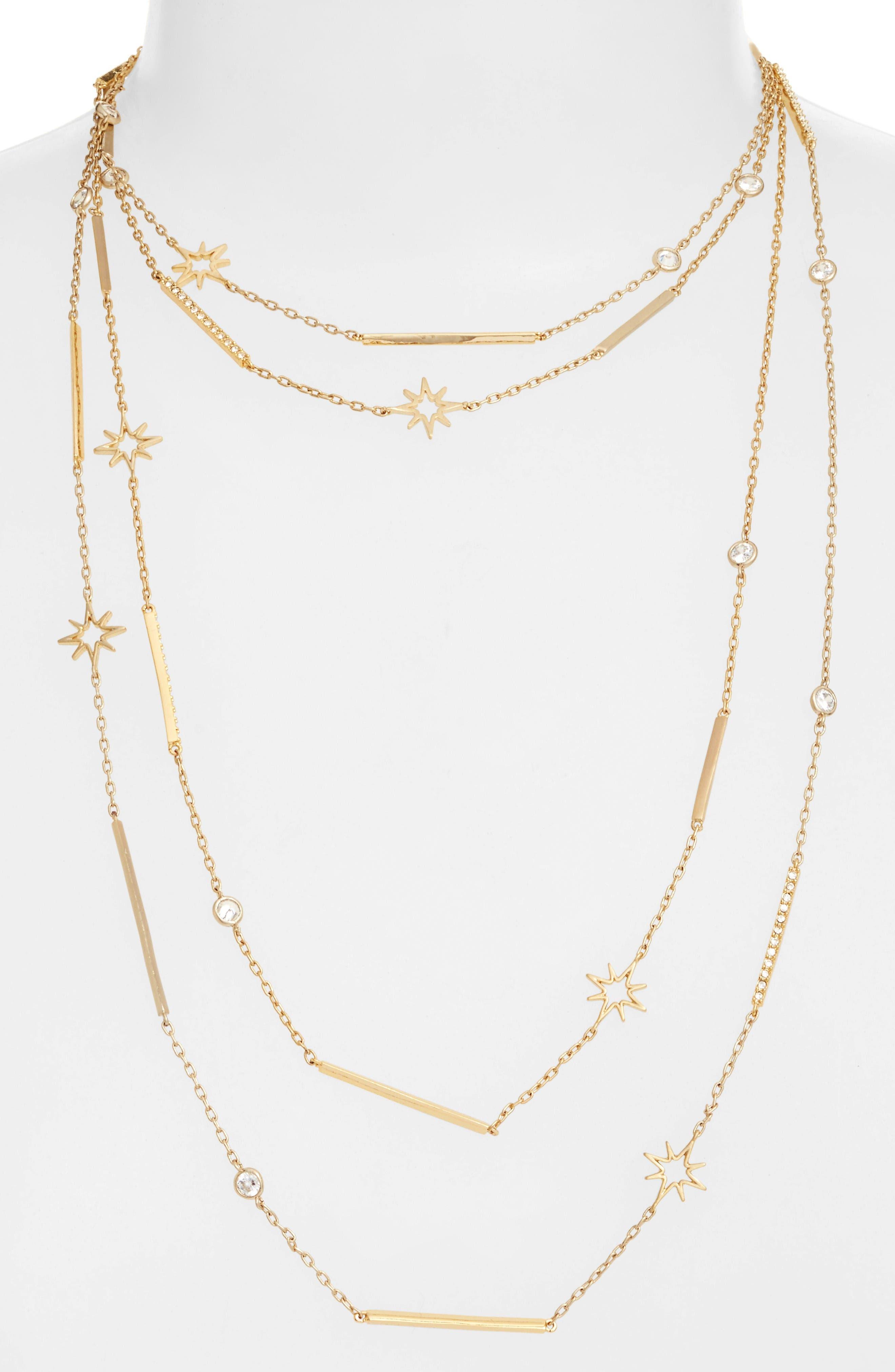 Jenny Packham Stardust Multistrand Necklace