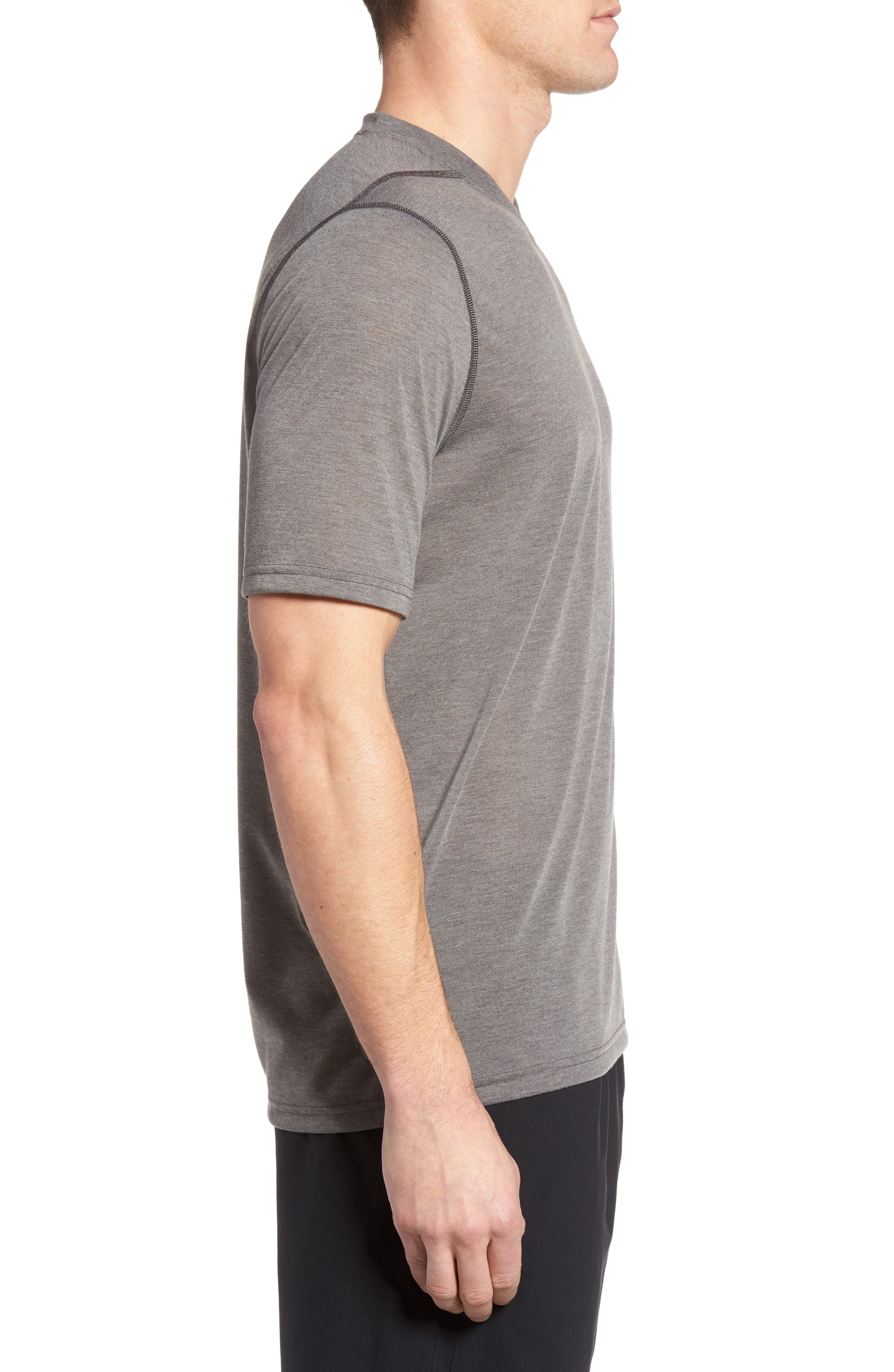 Regular Fit Threadborne T-Shirt,                             Alternate thumbnail 3, color,                             Carbon Heather