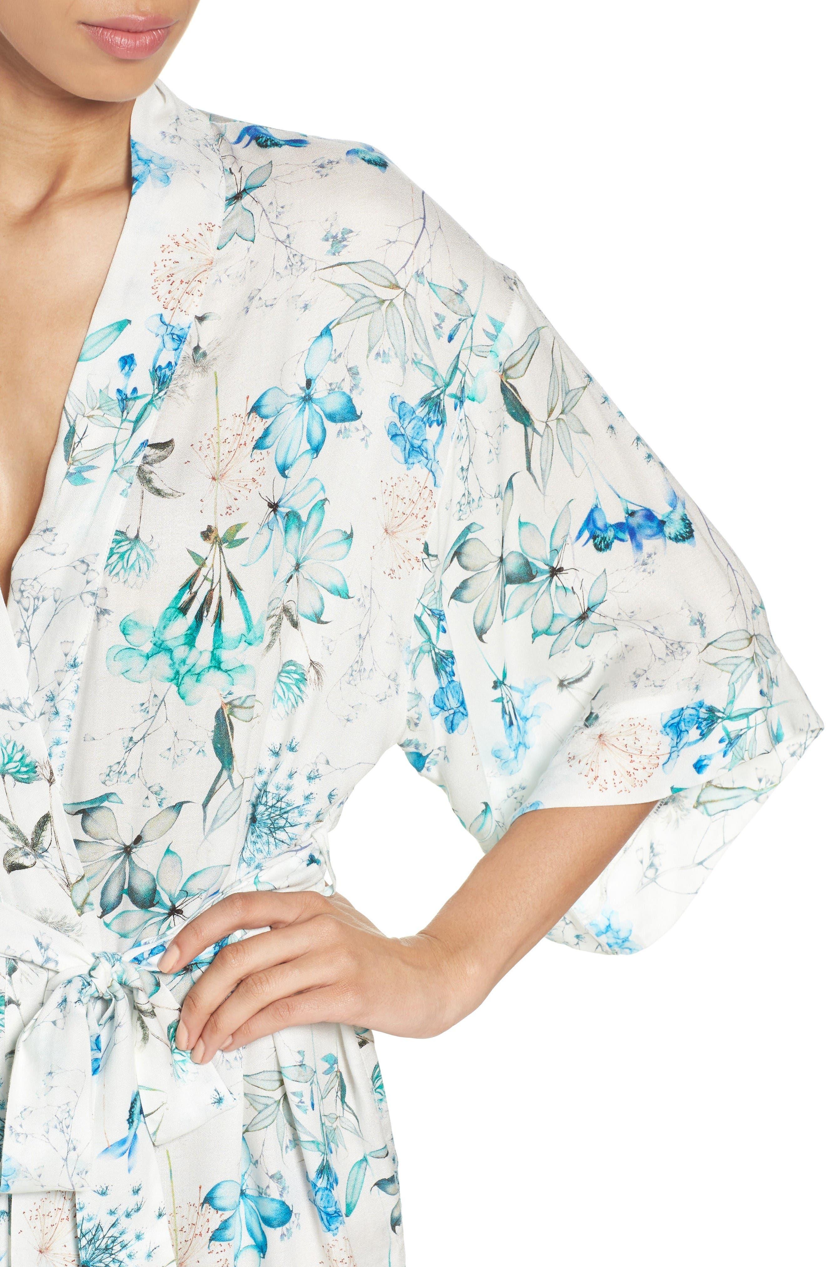 Delilah Kimono,                             Alternate thumbnail 4, color,                             Ivory