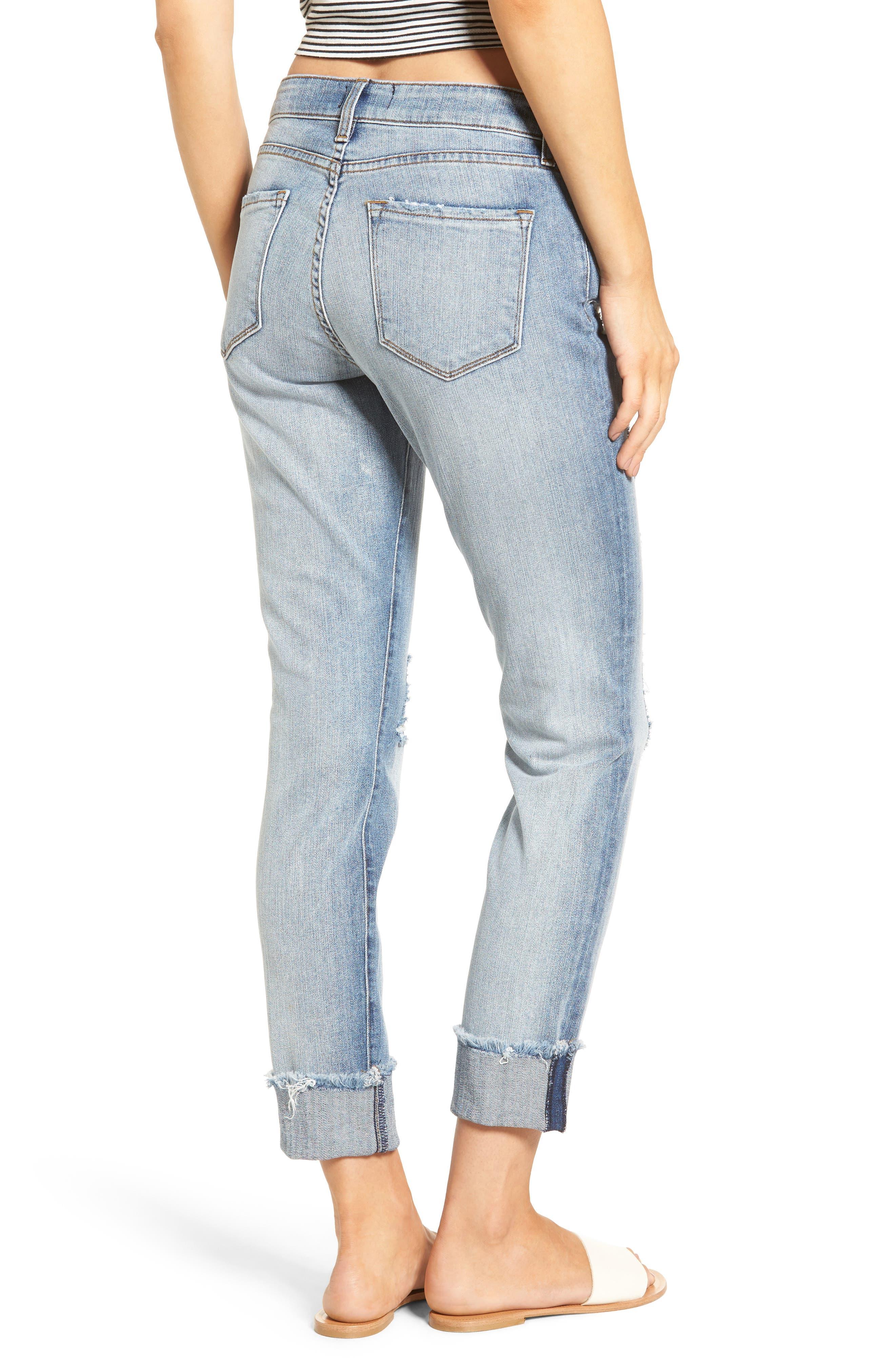 Alternate Image 2  - STS Blue Fray Hem Taylor Tomboy Jeans