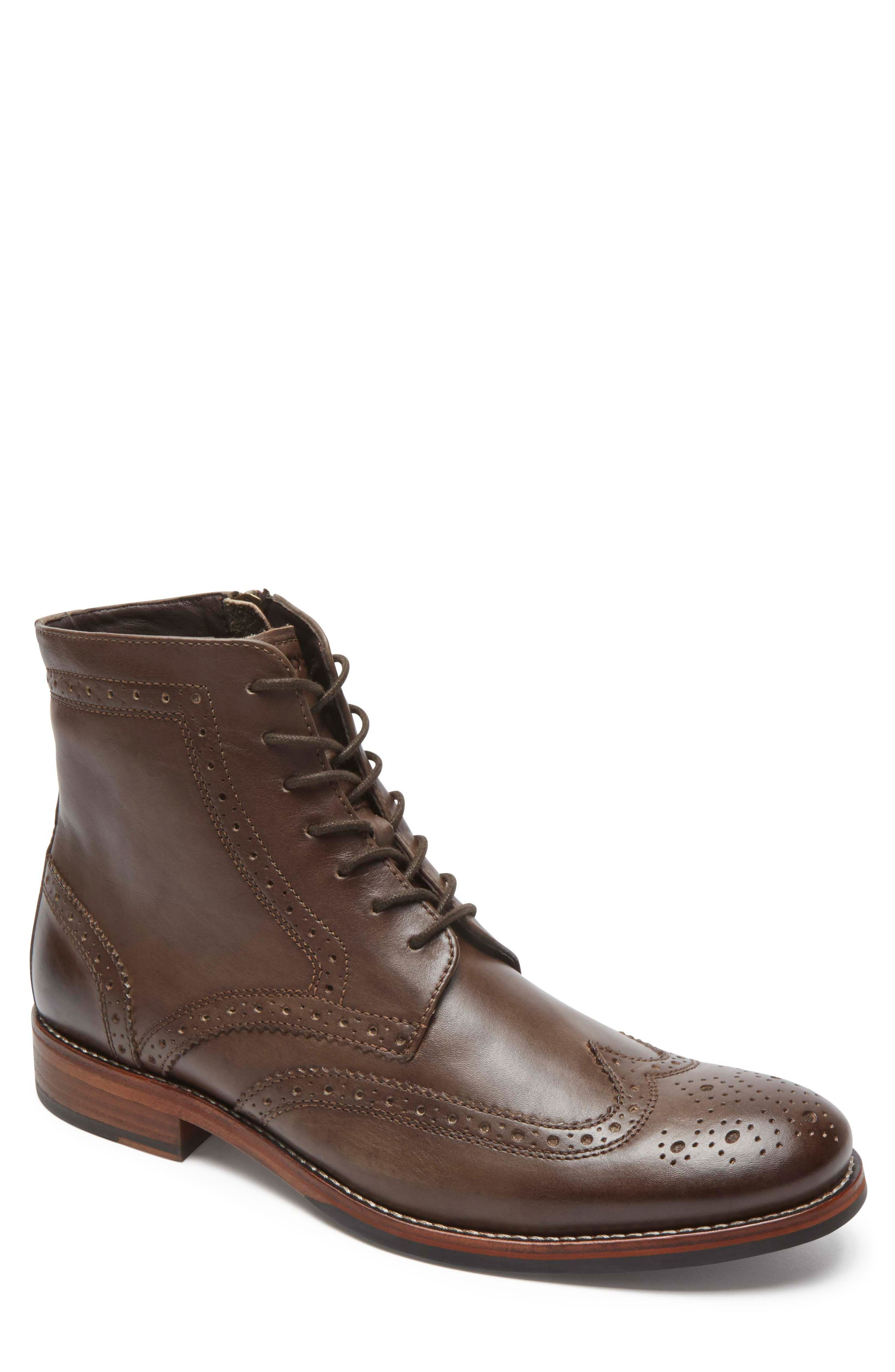 Wyat Wingtip Boot,                         Main,                         color, Coffee Leather