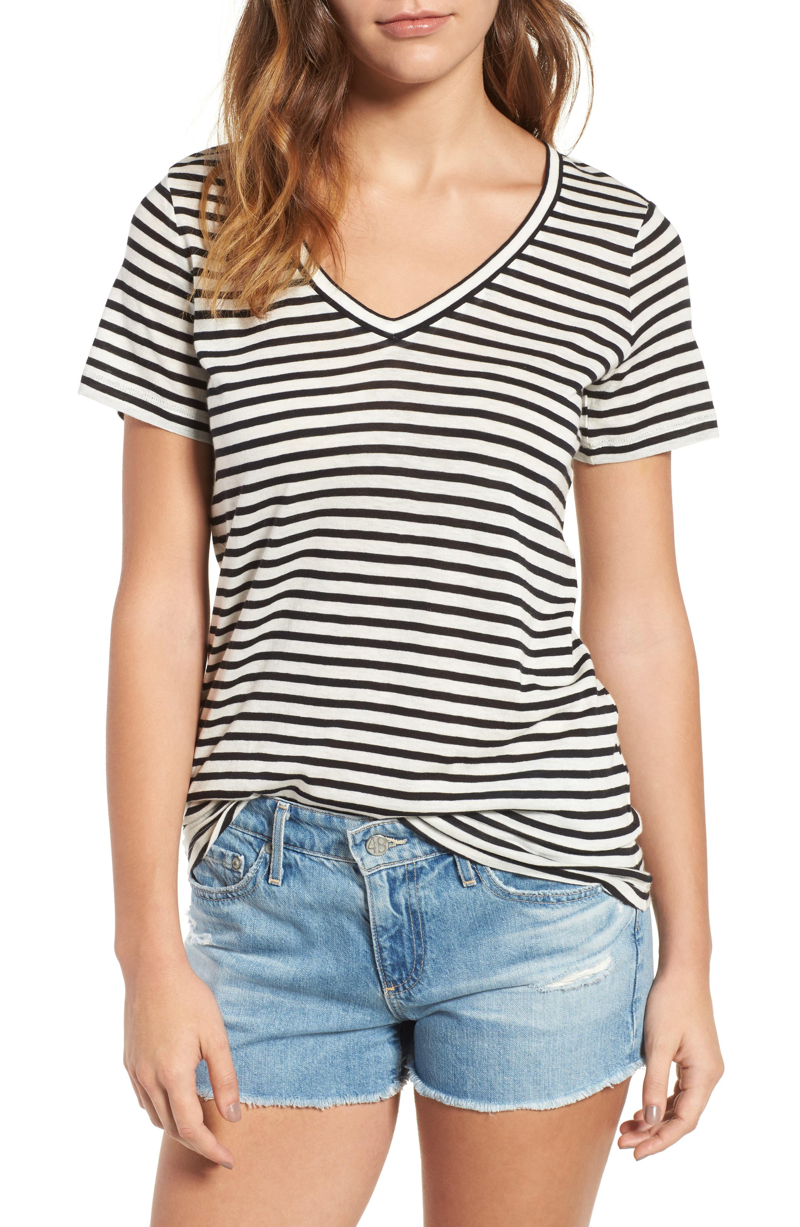Alternate Image 1 Selected - AG Kiara Stripe Tee