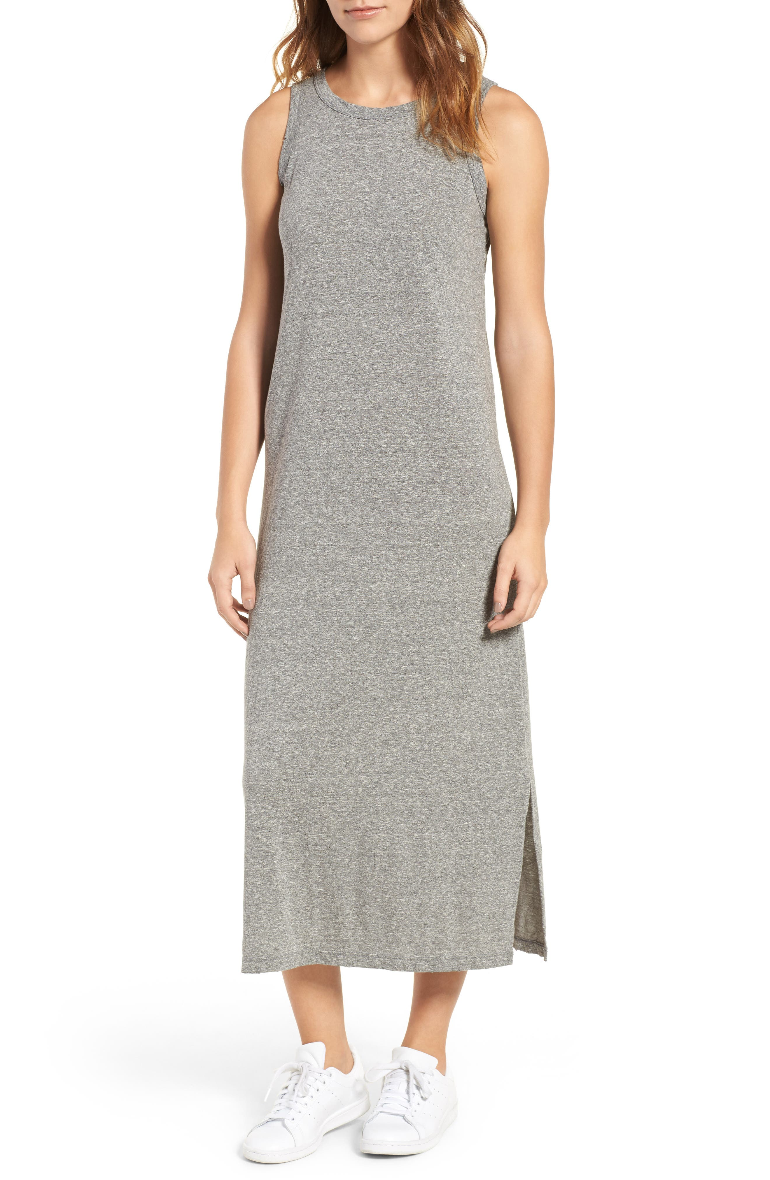 The Perfect Muscle Tee Dress,                         Main,                         color, Heather Grey