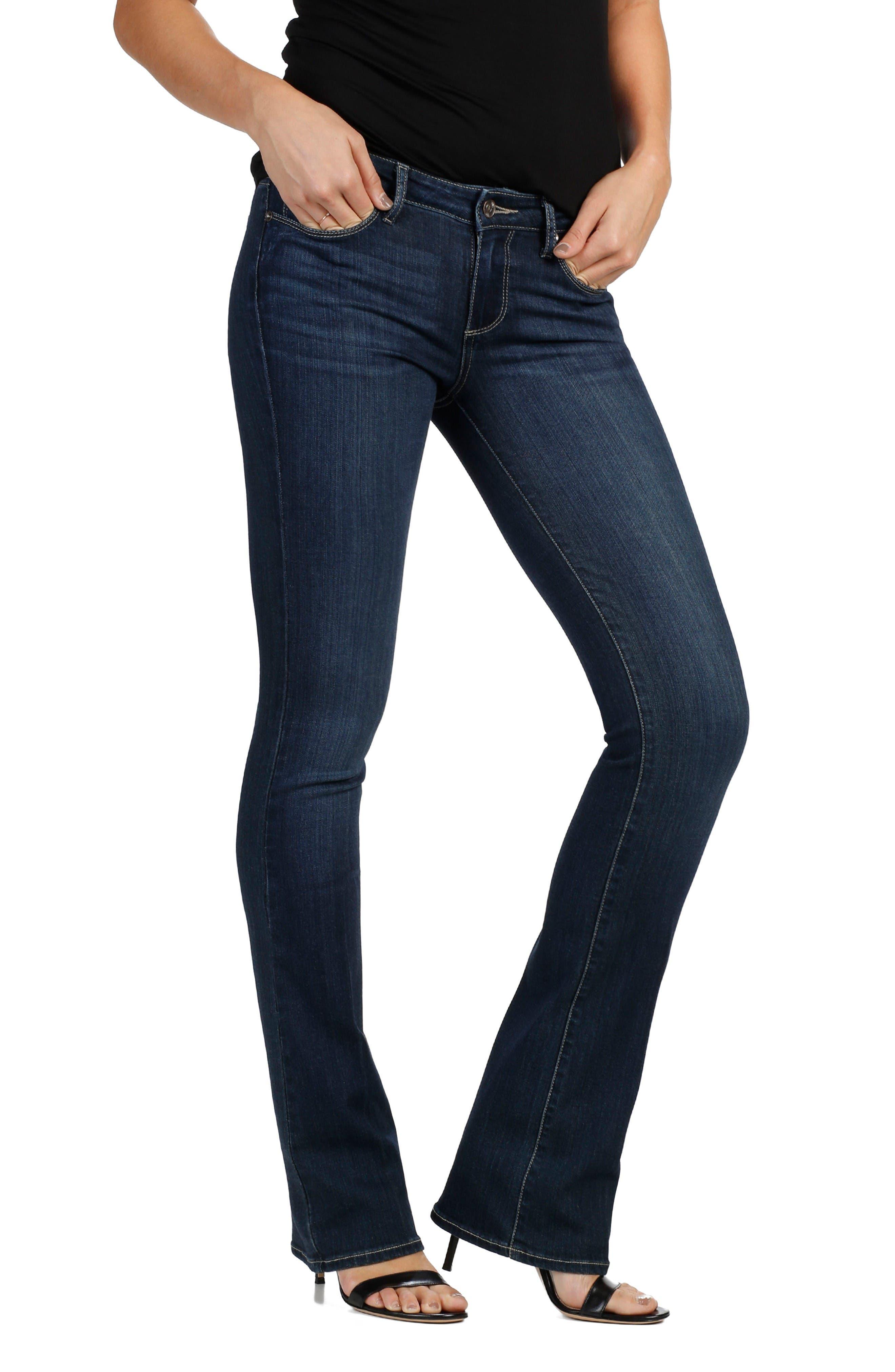 Alternate Image 1 Selected - PAIGE Manhattan Bootcut Jeans (Drift)