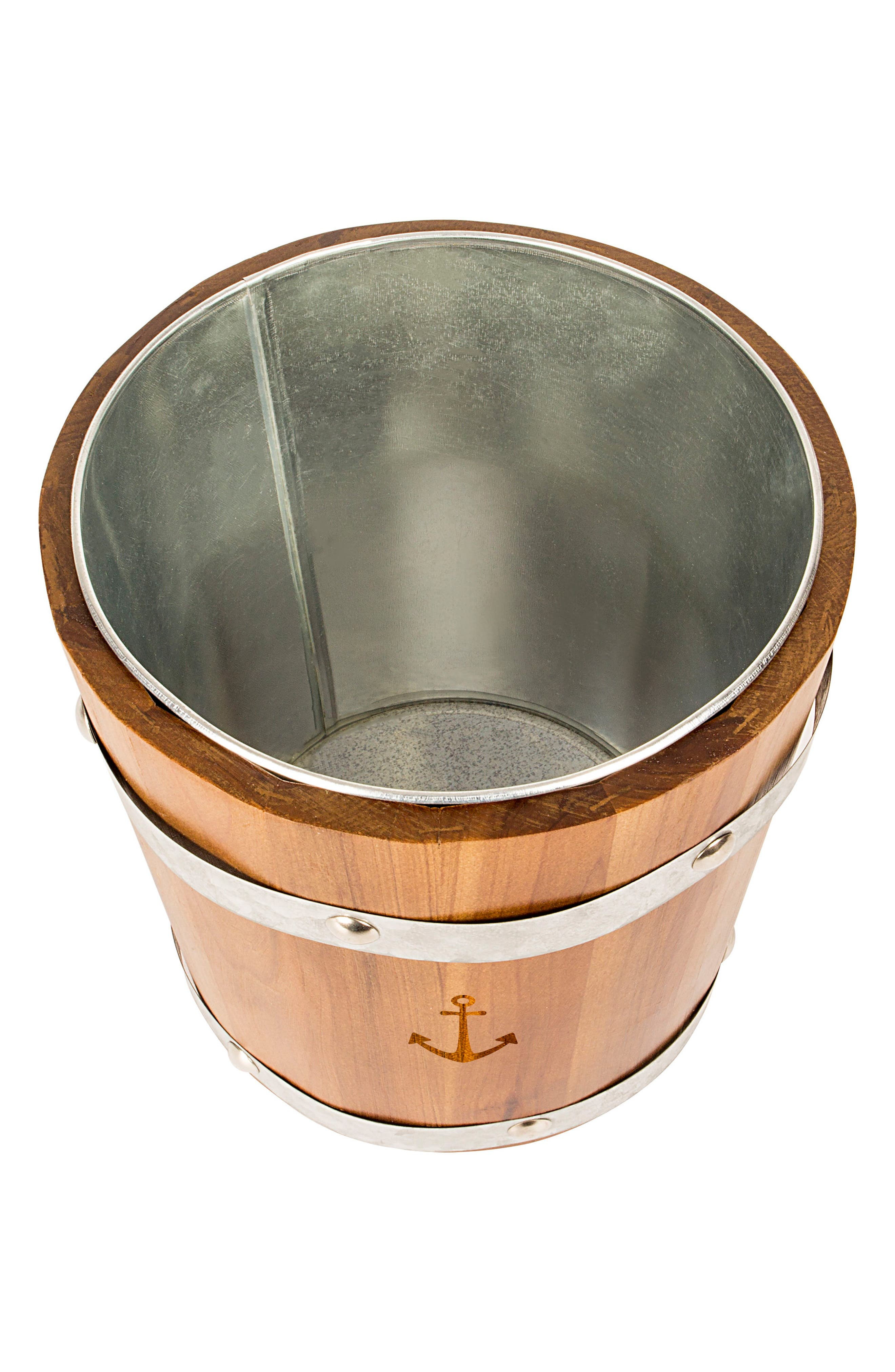 Rustic Anchor Ice Bucket,                             Alternate thumbnail 2, color,                             Brown
