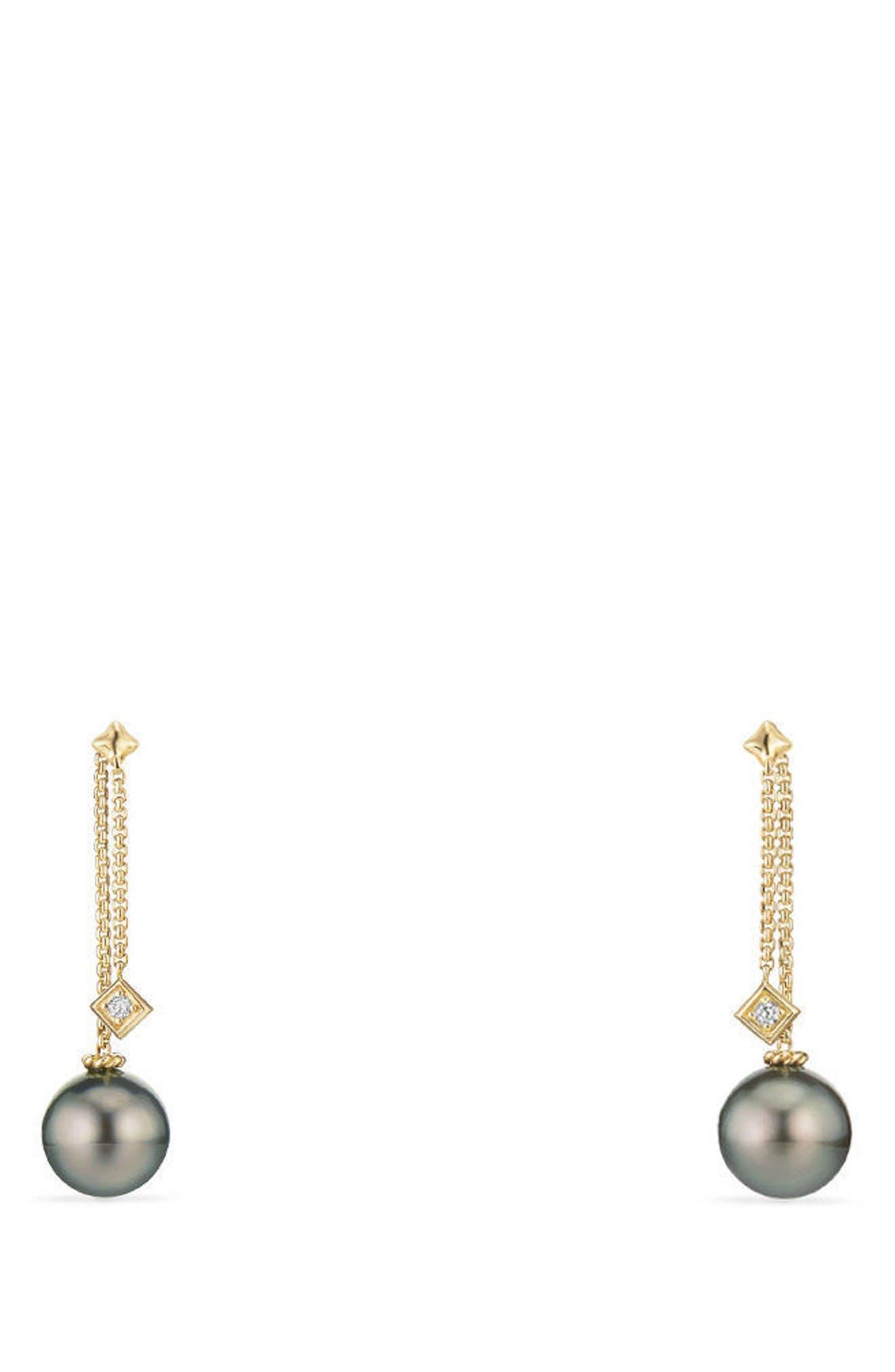 DAVID YURMAN Solari Earrings with Diamonds in 18K Gold