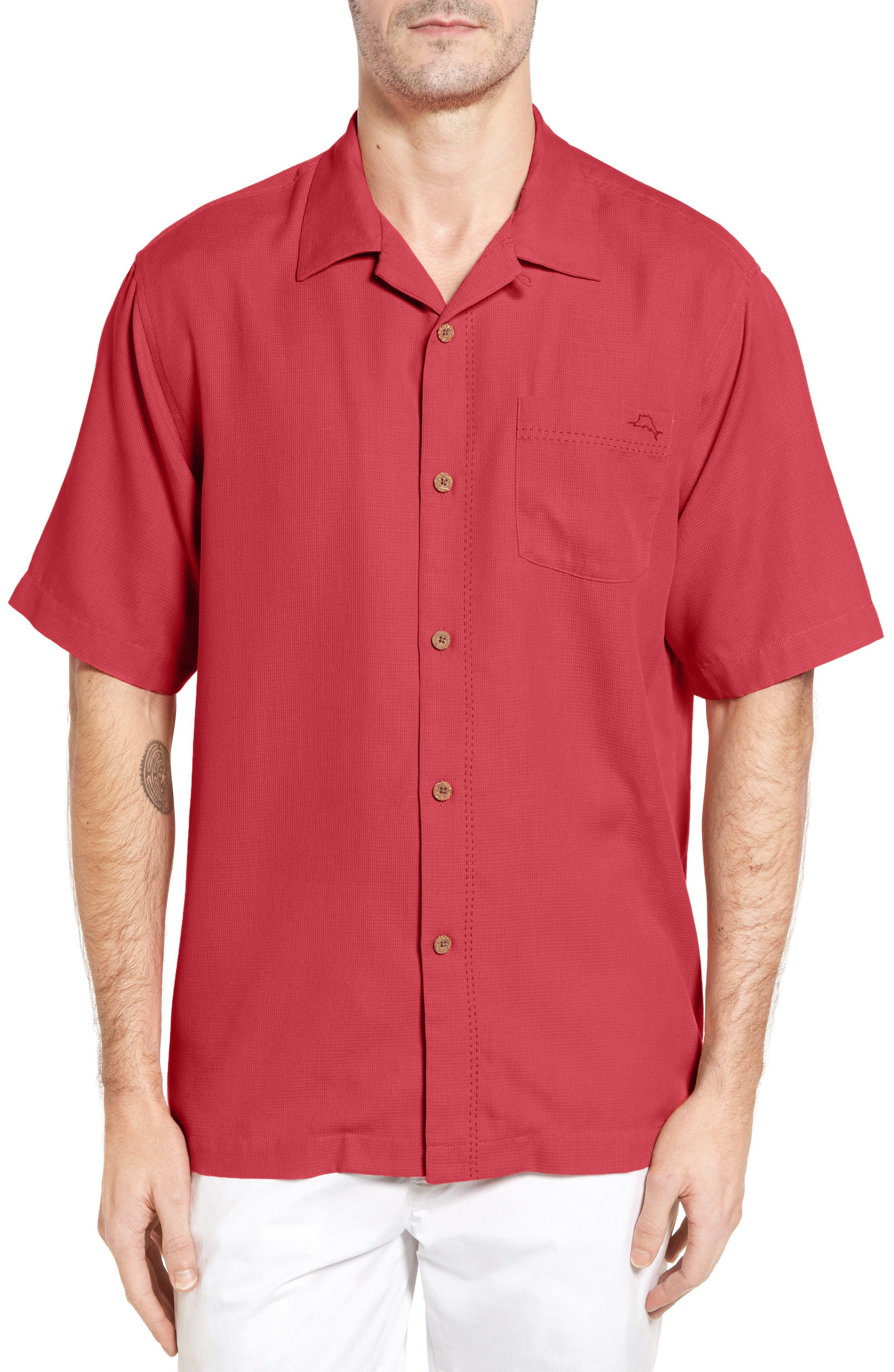 Alternate Image 1 Selected - Tommy Bahama Royal Bermuda Silk Blend Camp Shirt