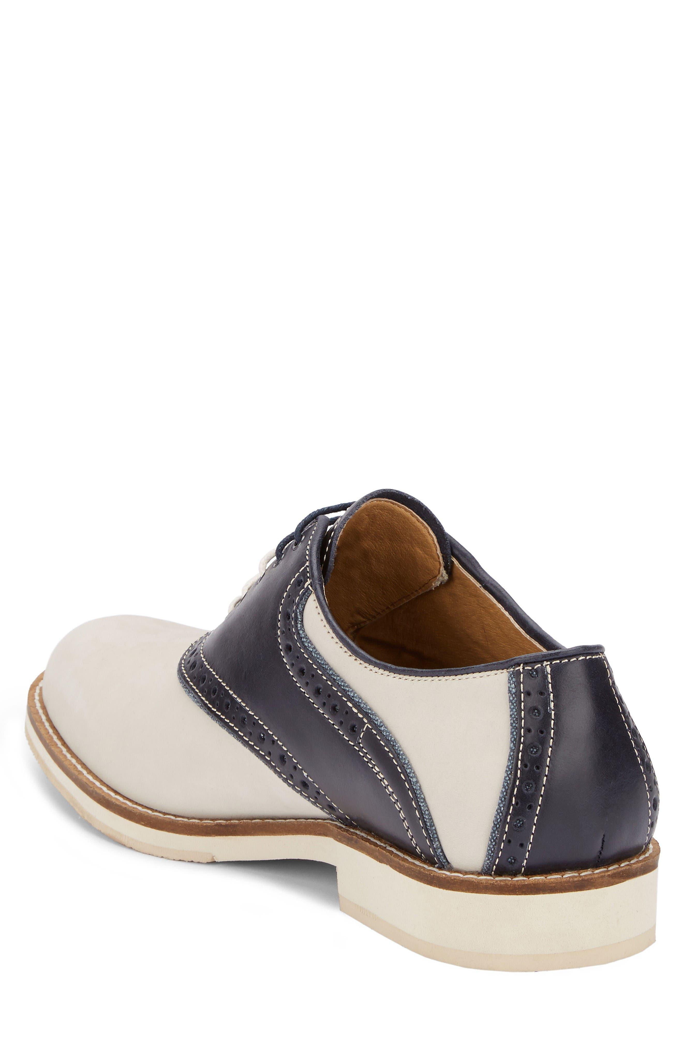 Noah Saddle Shoe,                             Alternate thumbnail 2, color,                             Oyster/ Navy