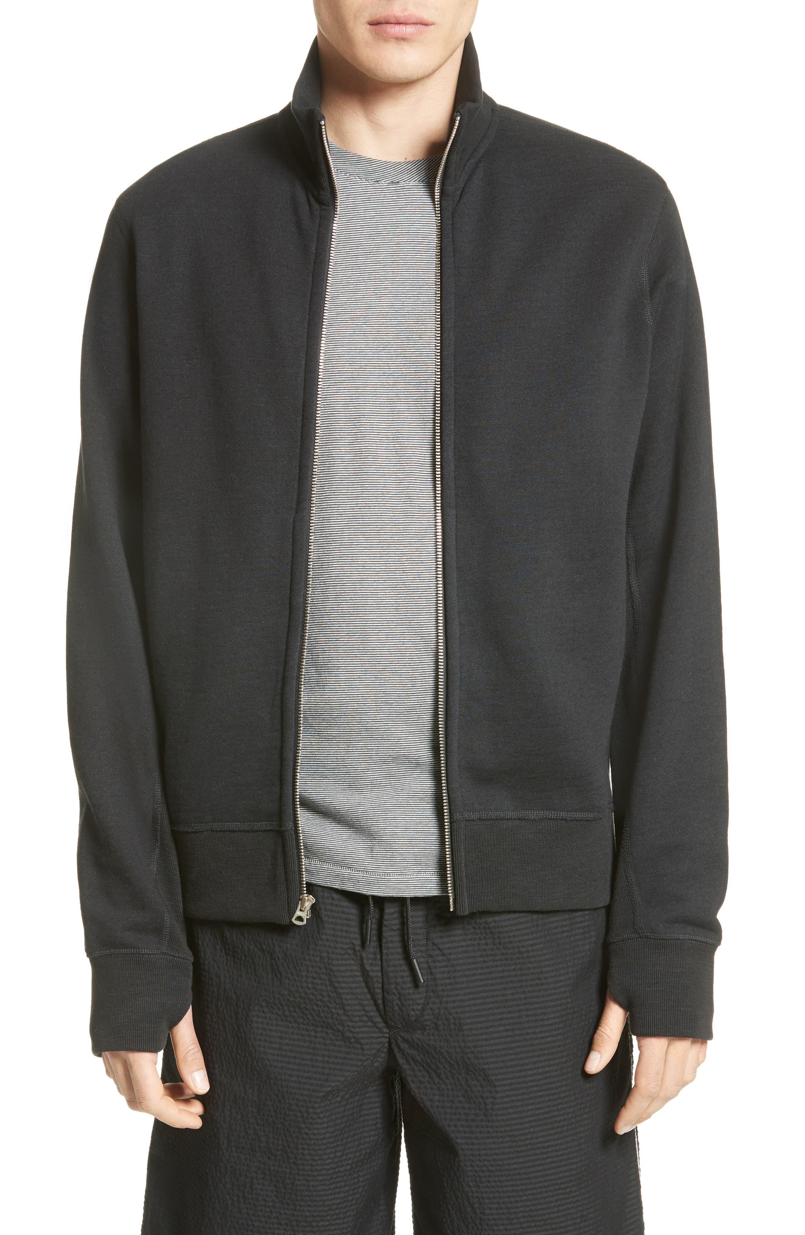rag & bone Trooper Zip Front Sweatshirt