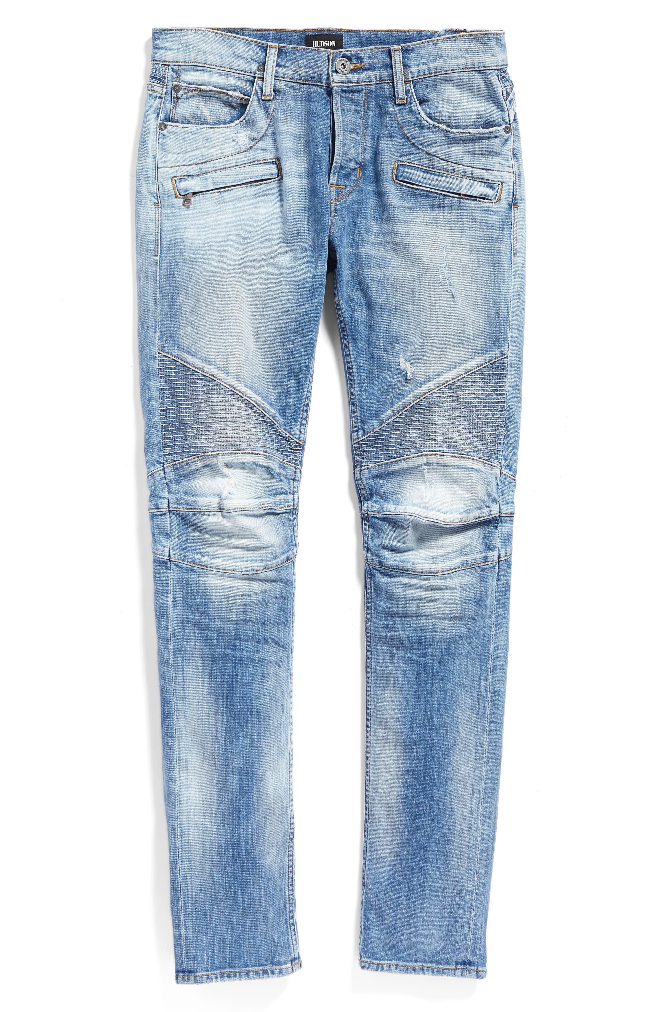 Alternate Image 6  - Hudson Jeans Blinder Skinny Fit Moto Jeans (Thrash)