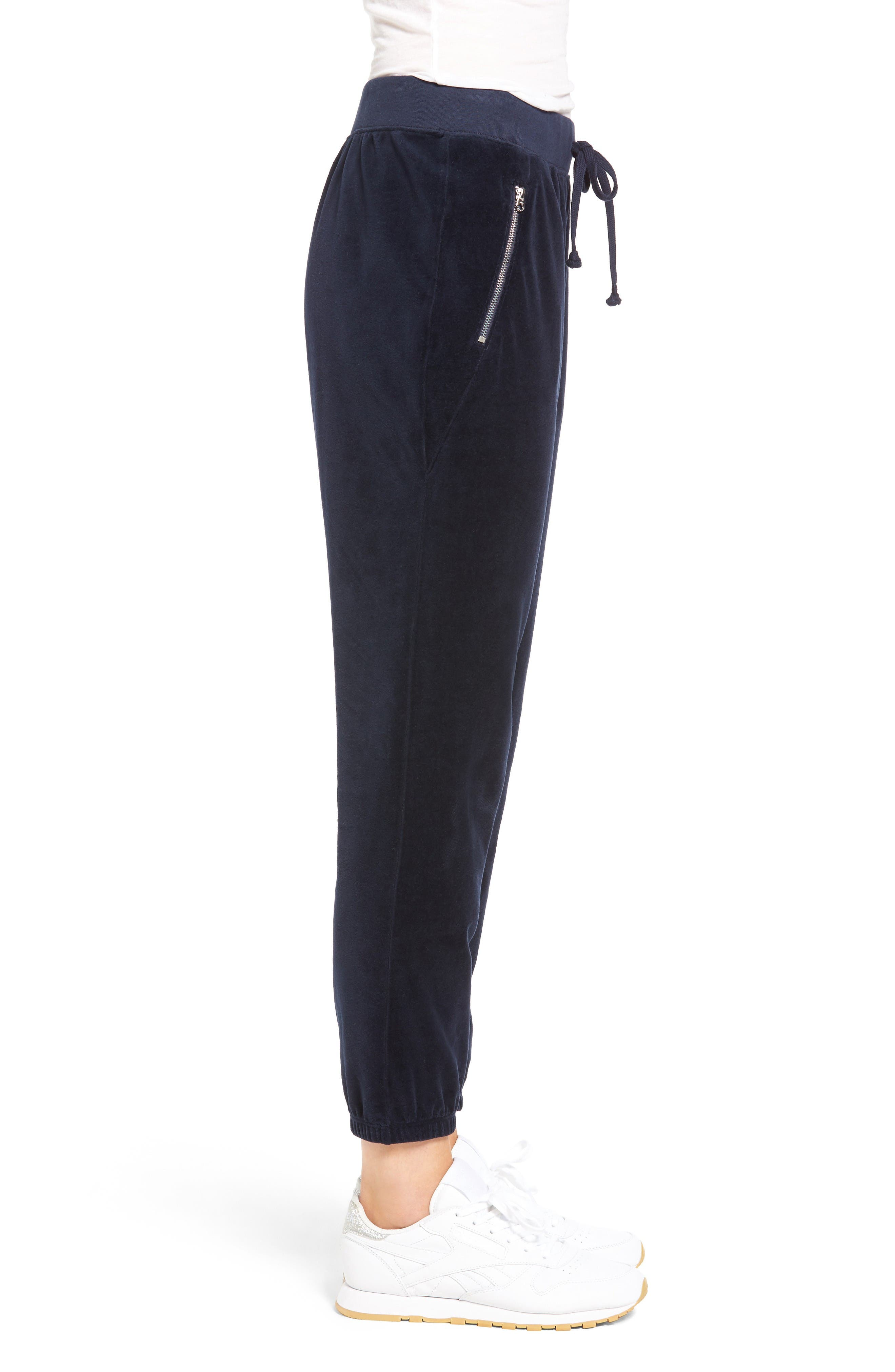 Alternate Image 3  - Juicy Couture Silverlake Velour Track Pants