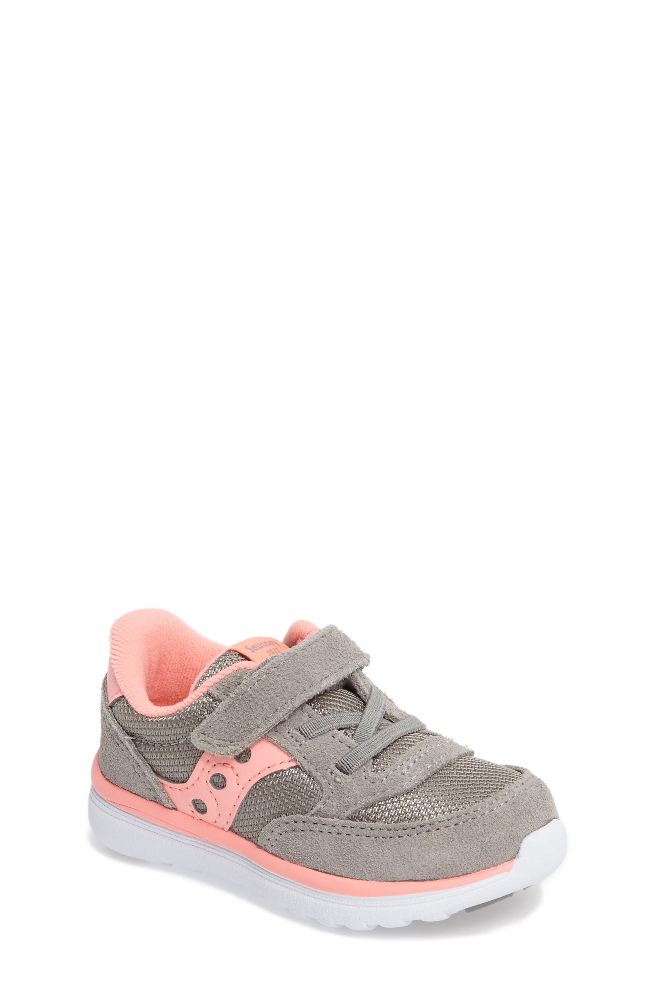 Jazz Lite Sneaker,                         Main,                         color, Grey/ Coral