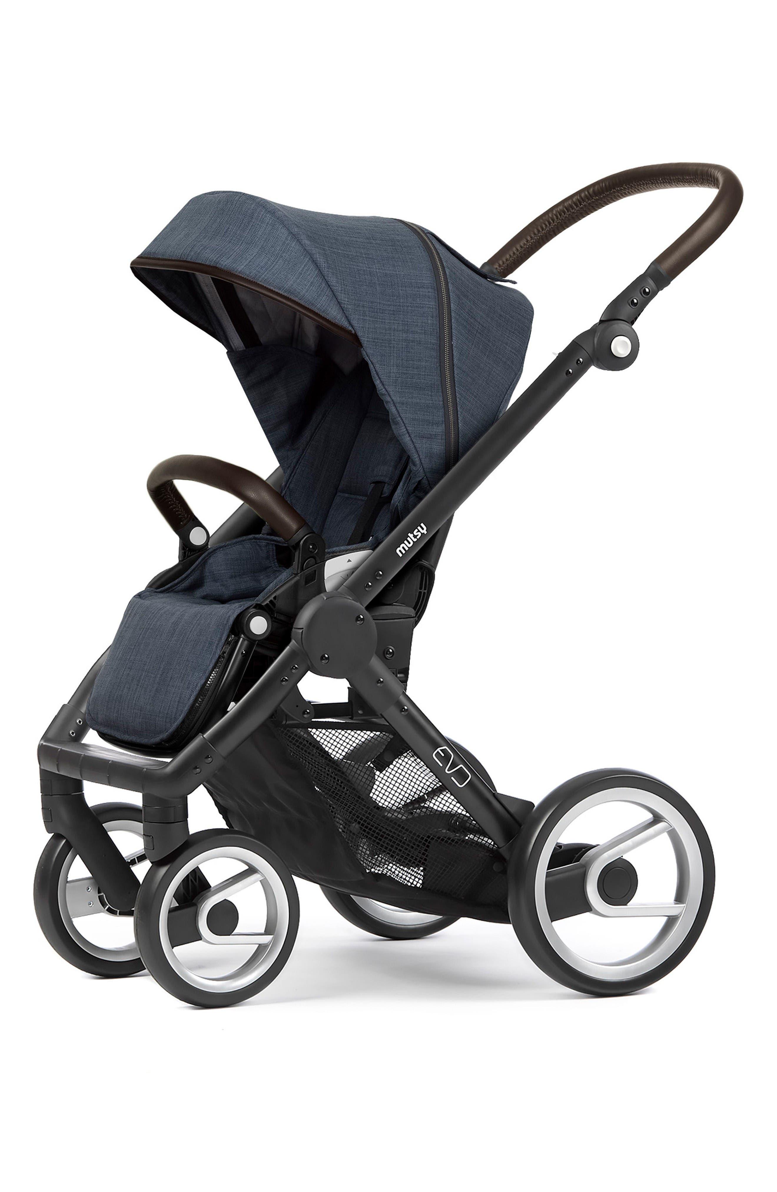 Evo - Farmer Earth Stroller,                             Main thumbnail 1, color,                             Black/ Blue
