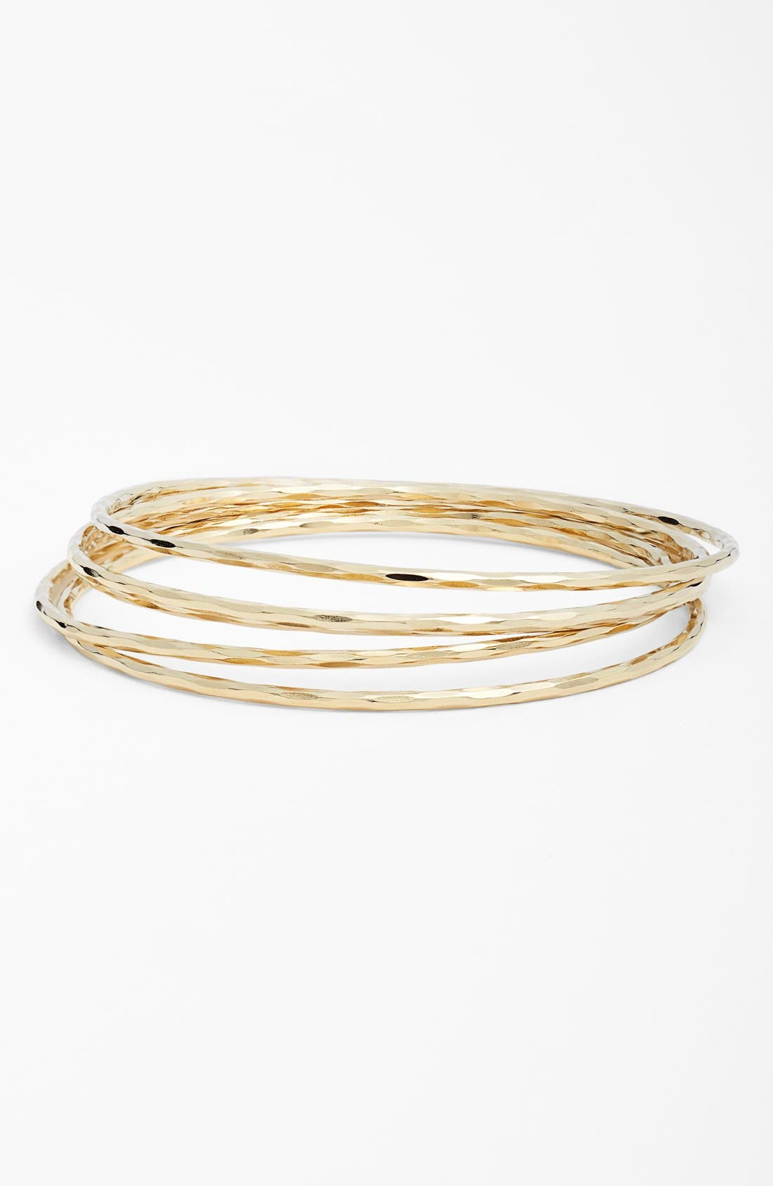 Alternate Image 1 Selected - Nordstrom Hammered Bangles (Set of 5)