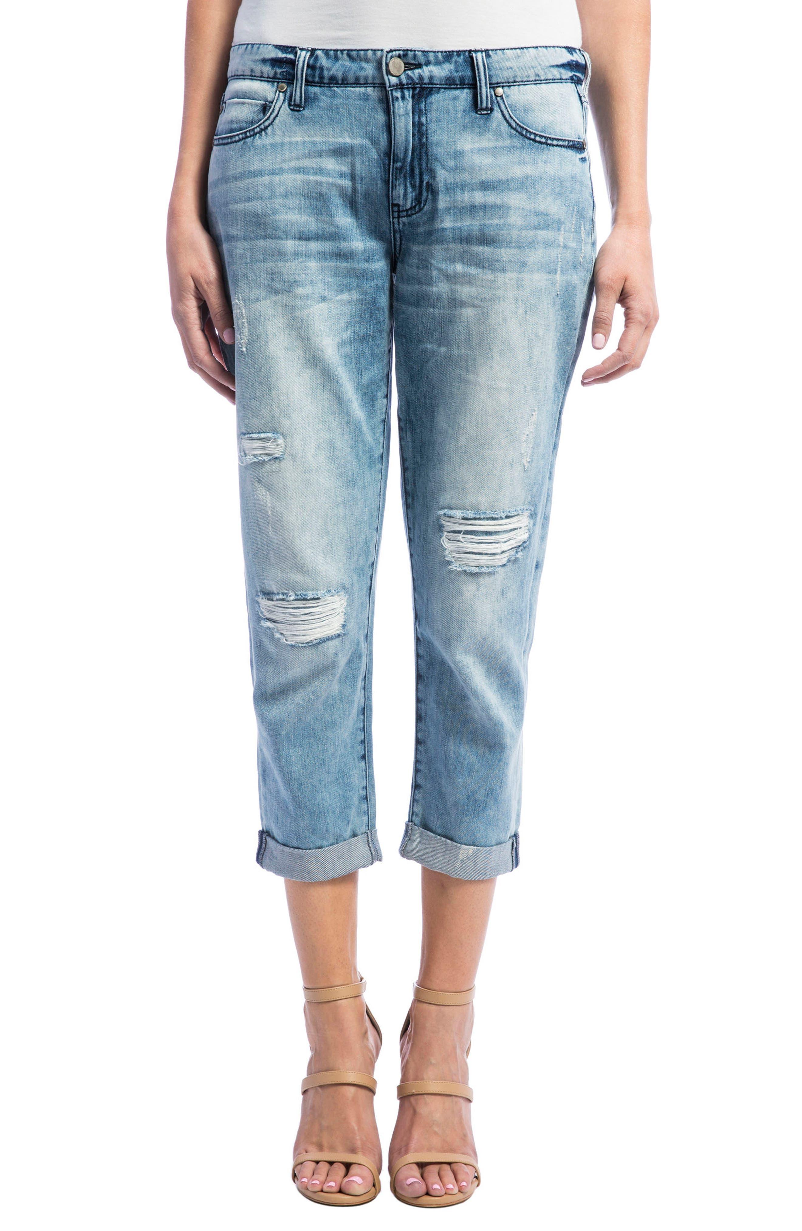 Alternate Image 1 Selected - Liverpool Jeans Company Cameron Crop Boyfriend Jeans